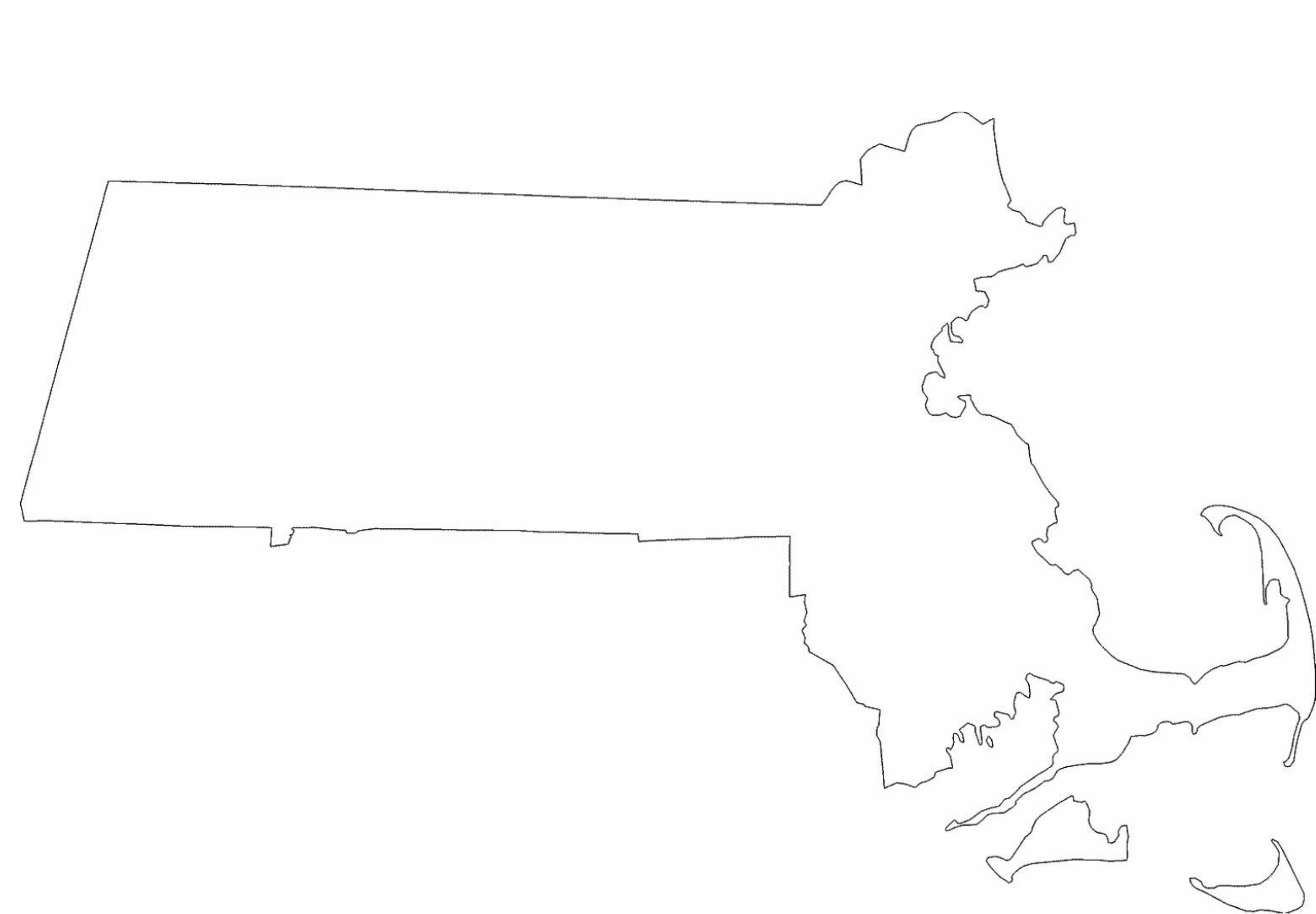 massachusetts state outline map free download