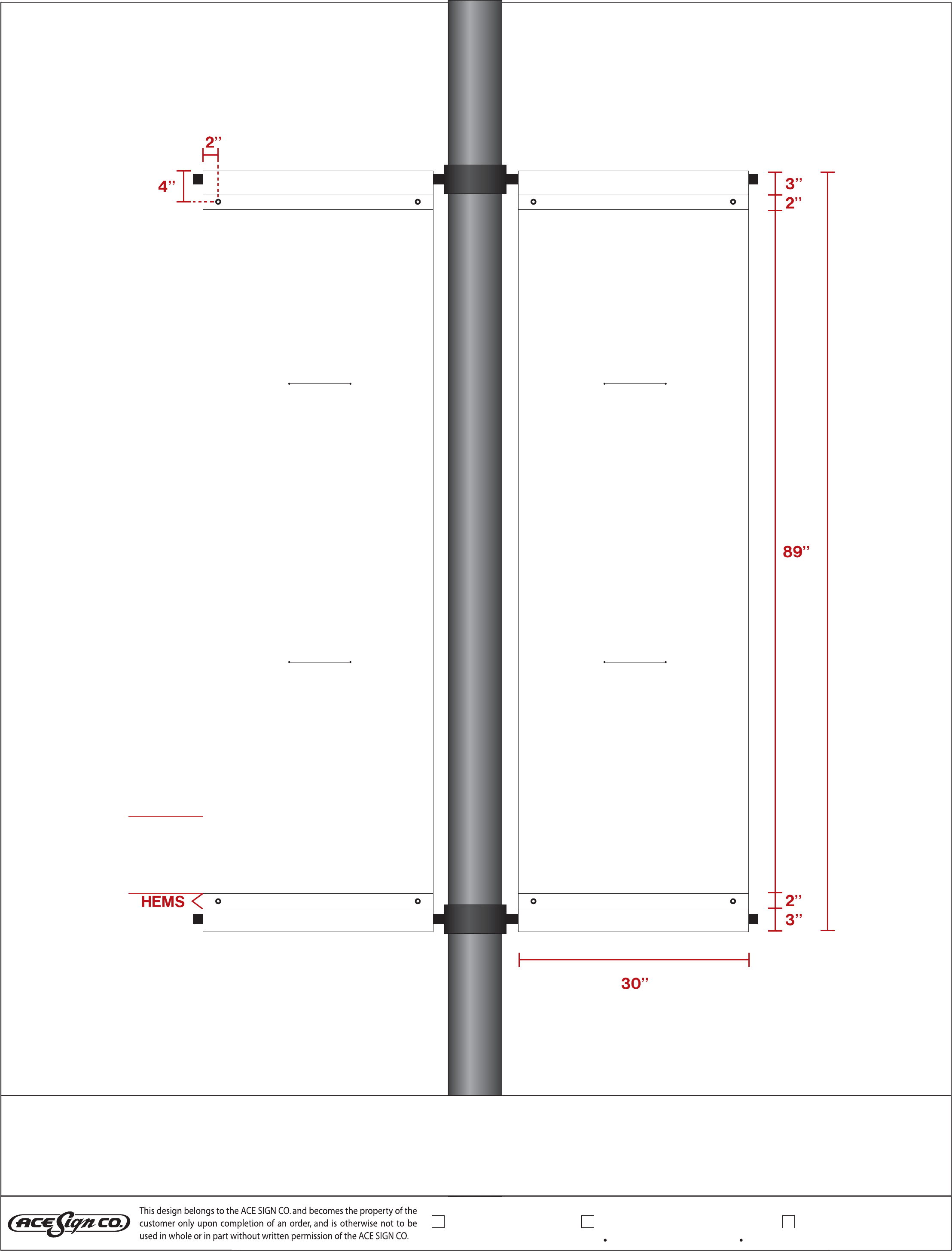 Dsi Pole Banner Template Free Download