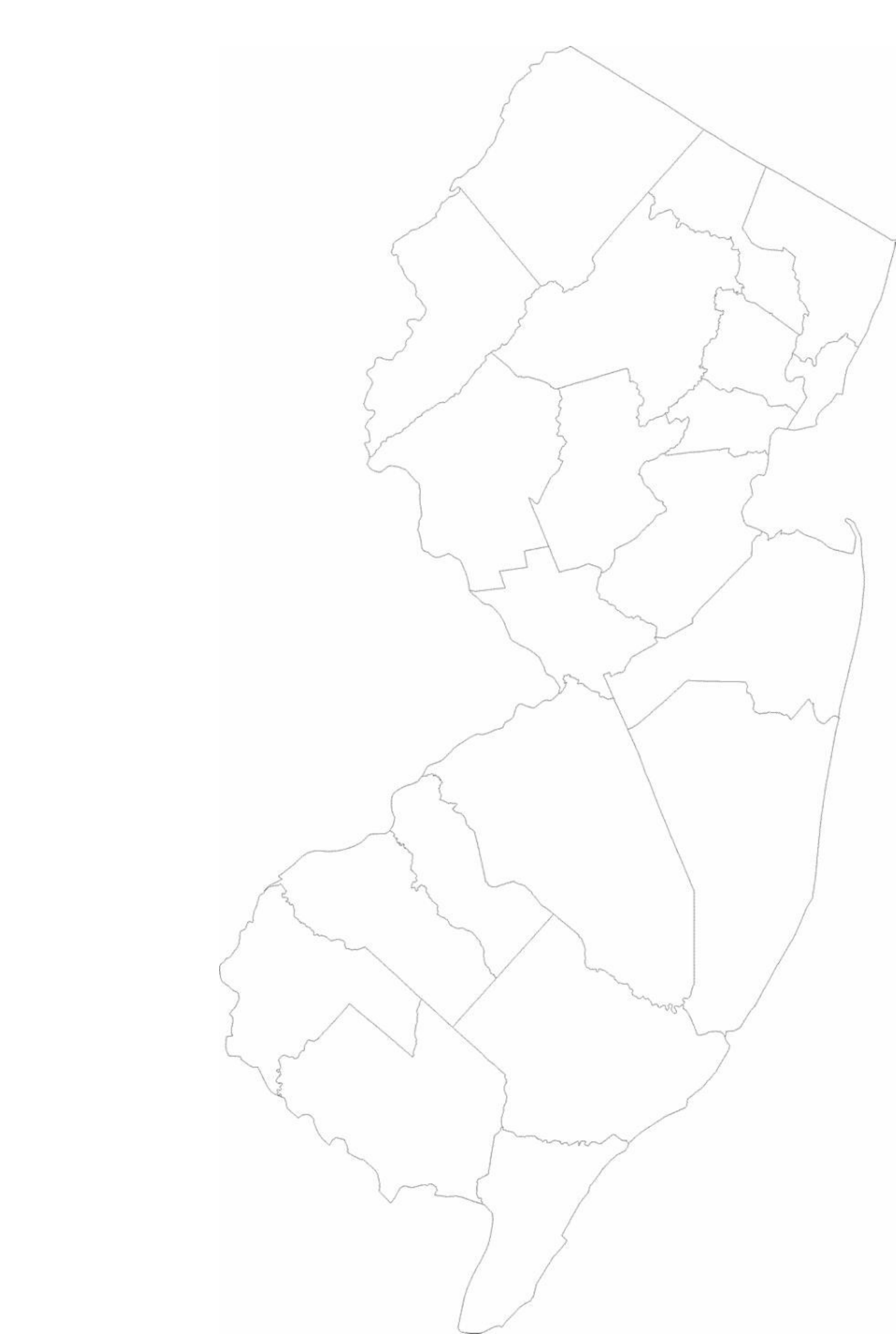 Blank New Jersey County Map Free Download