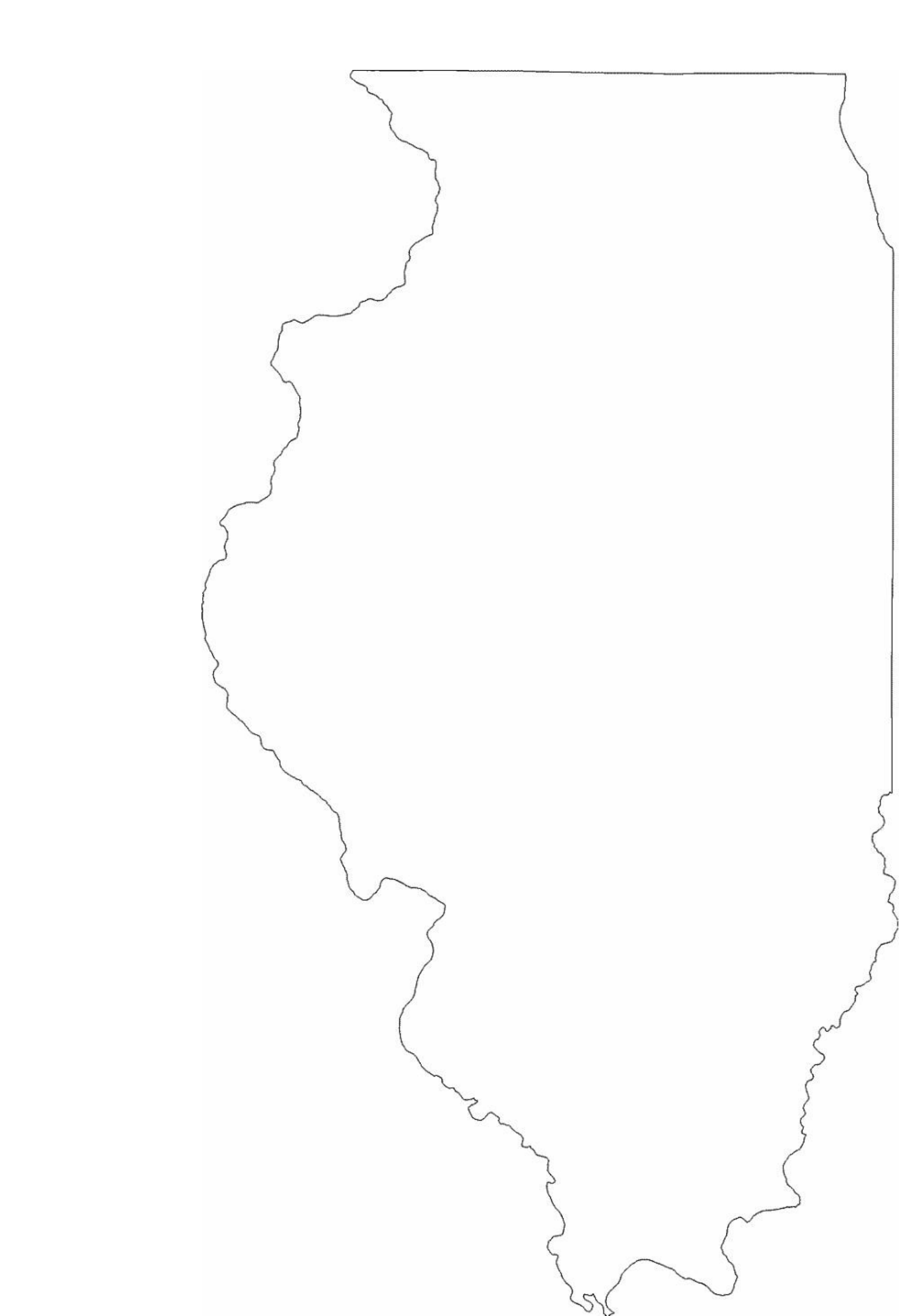 illinois state outline map free download