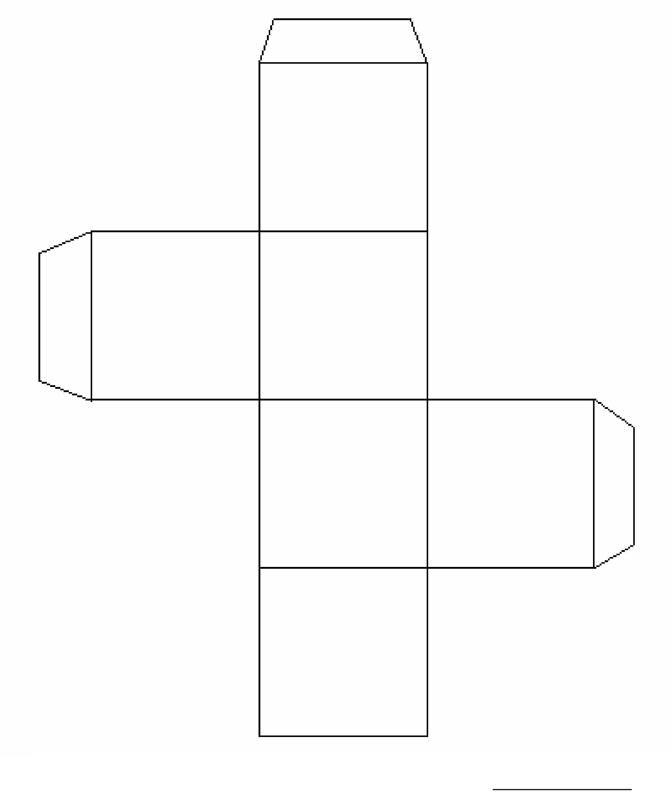 blank cube template free download