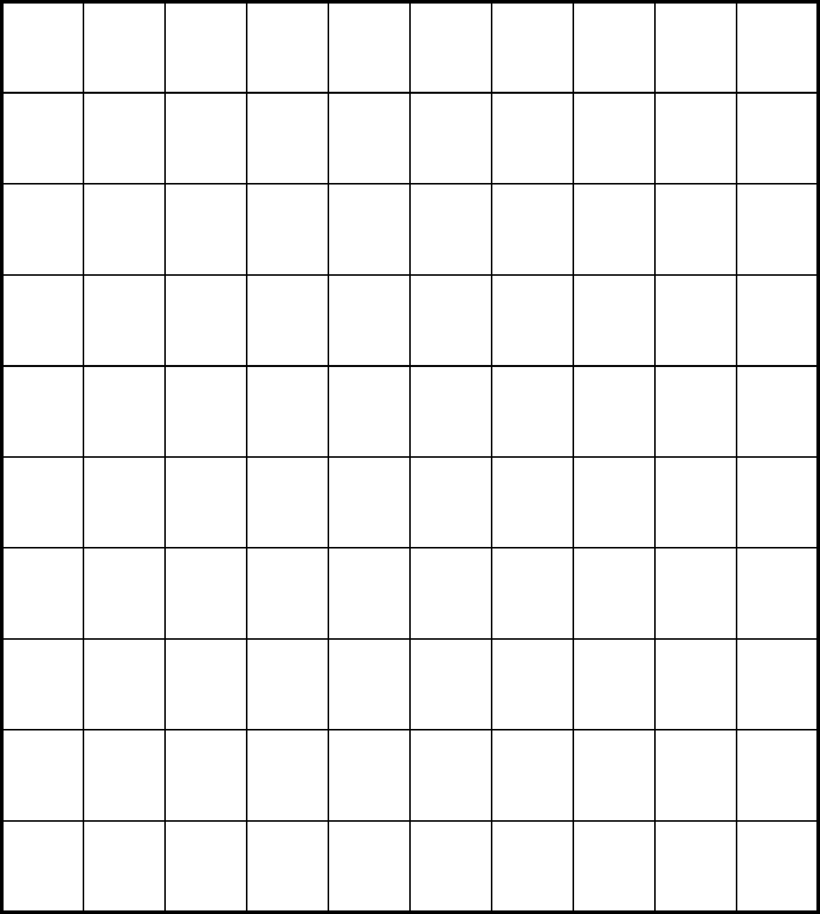 It's just a graphic of Peaceful Printable Blank Hundreds Chart