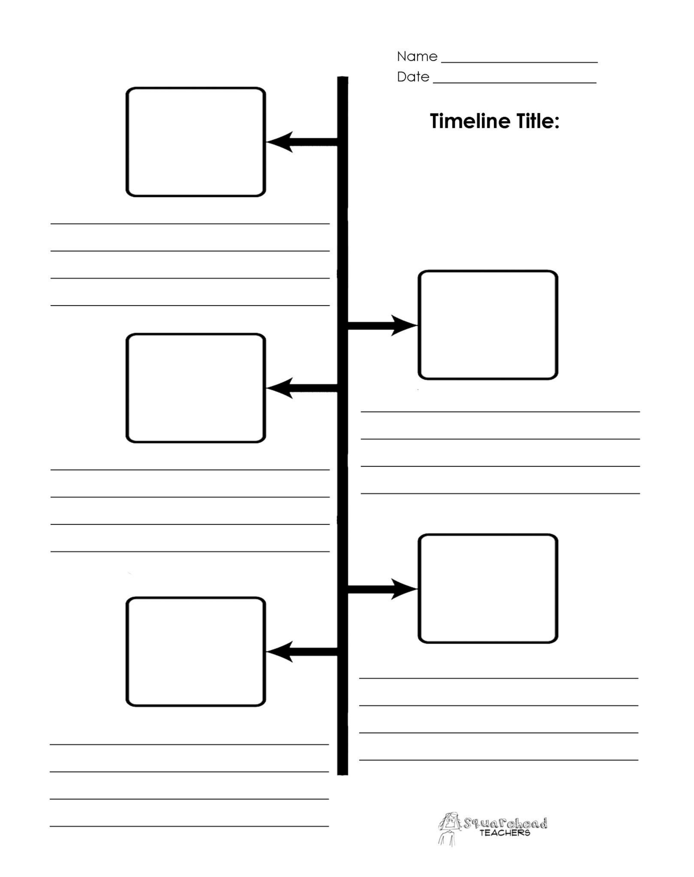 Blank project timeline template free download for Timline template