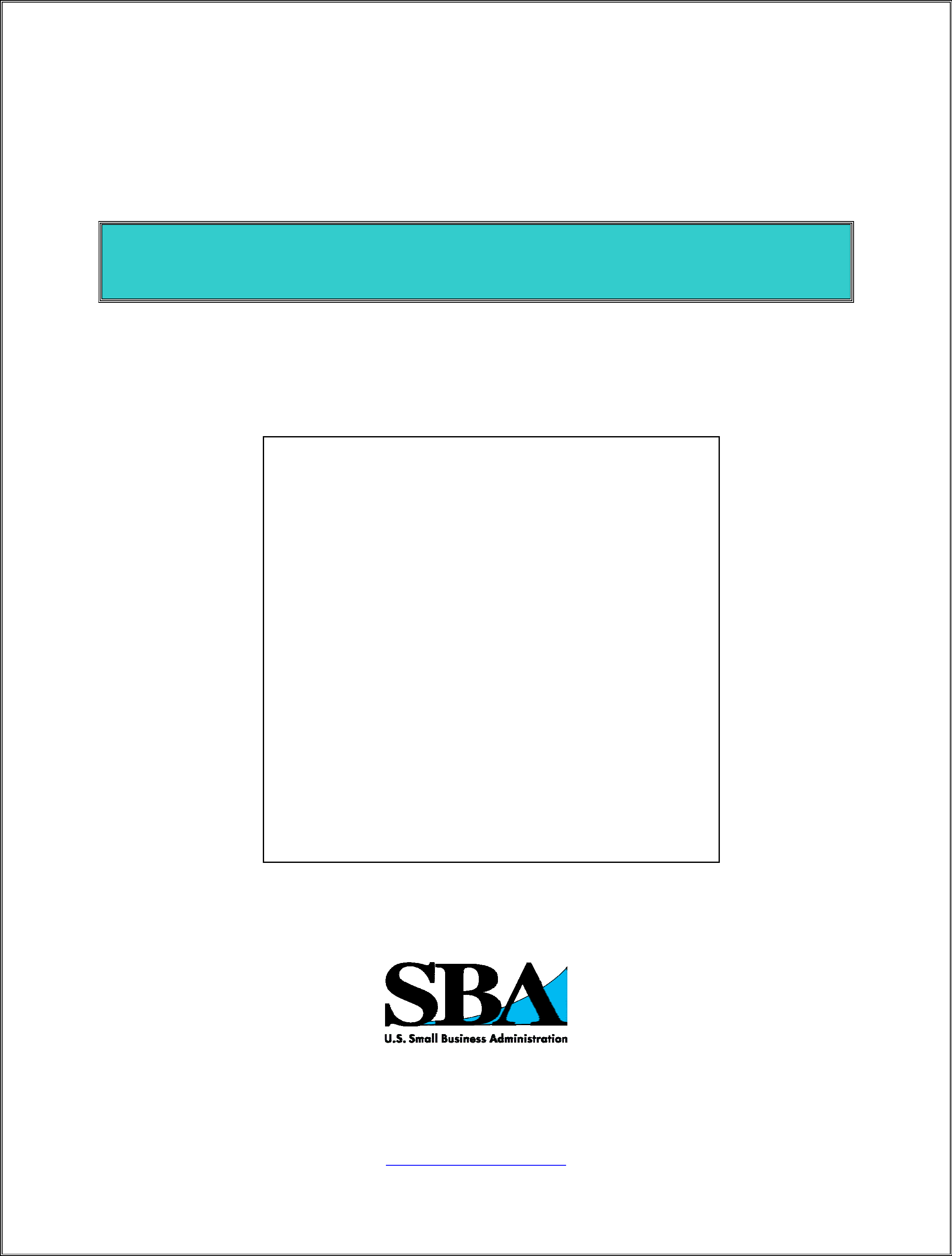 Sba gov guide for writing a business plan