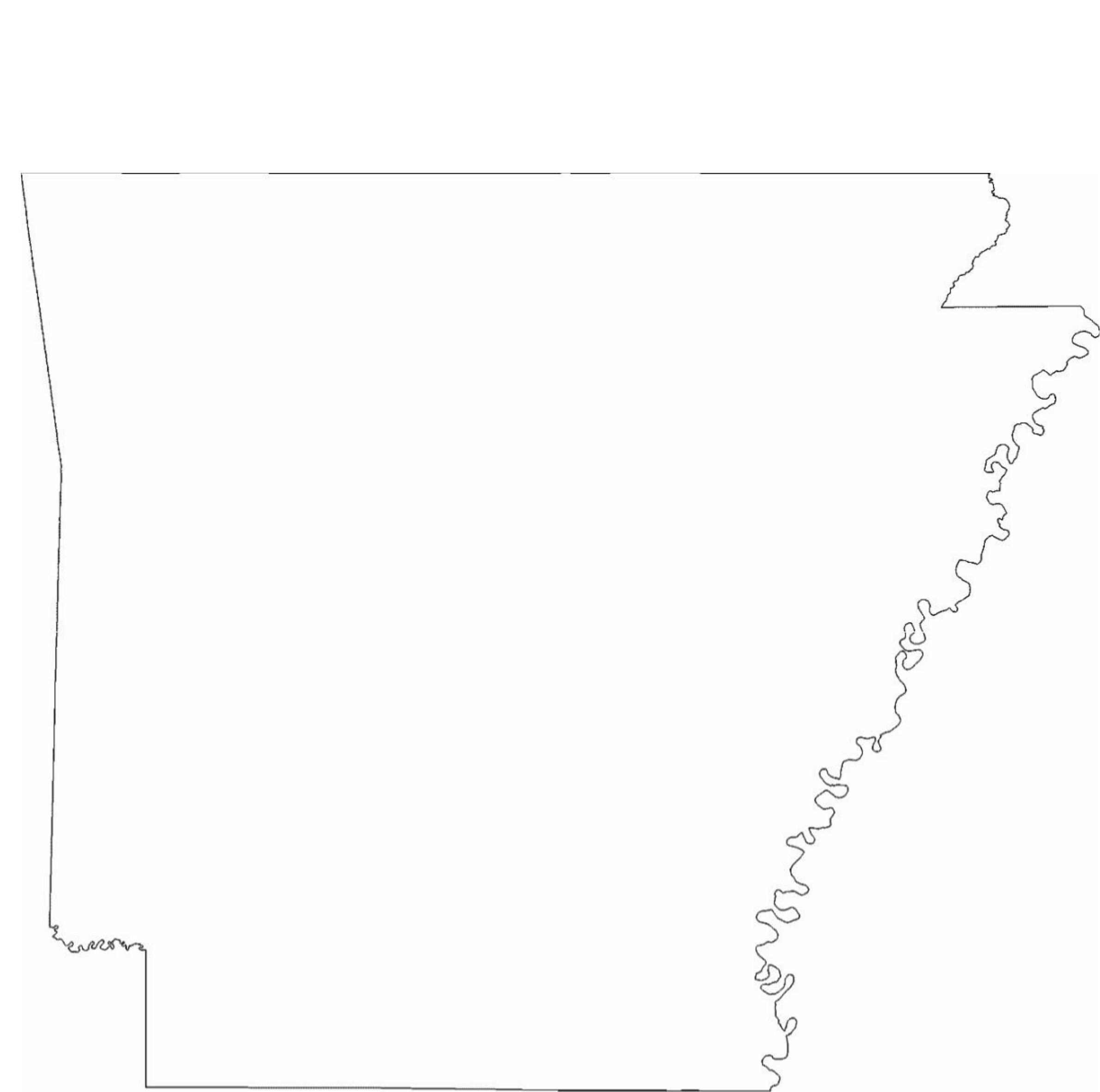 arkansas state outline map free download