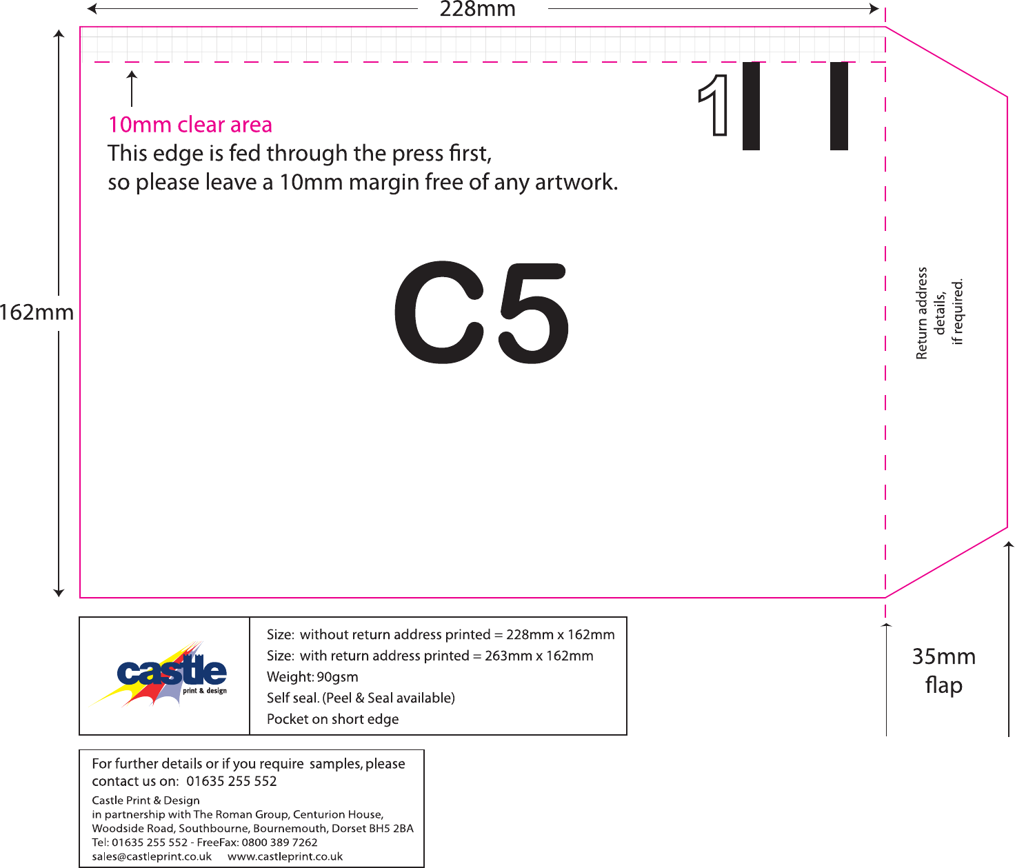 c5 envelope template free - 28 images - how to make a c5 envelope ...