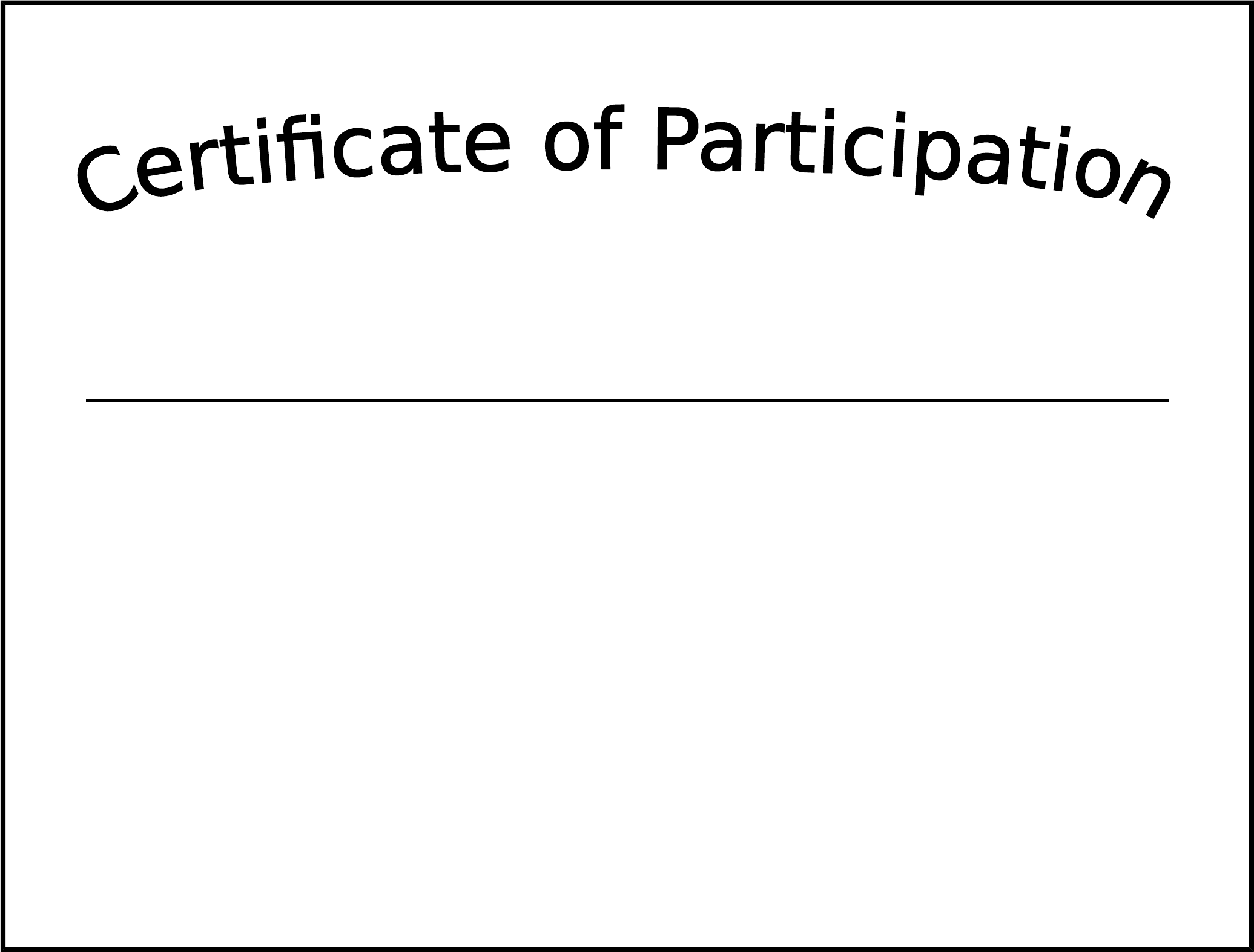 Formsbirds  Printable Certificate Of Participation