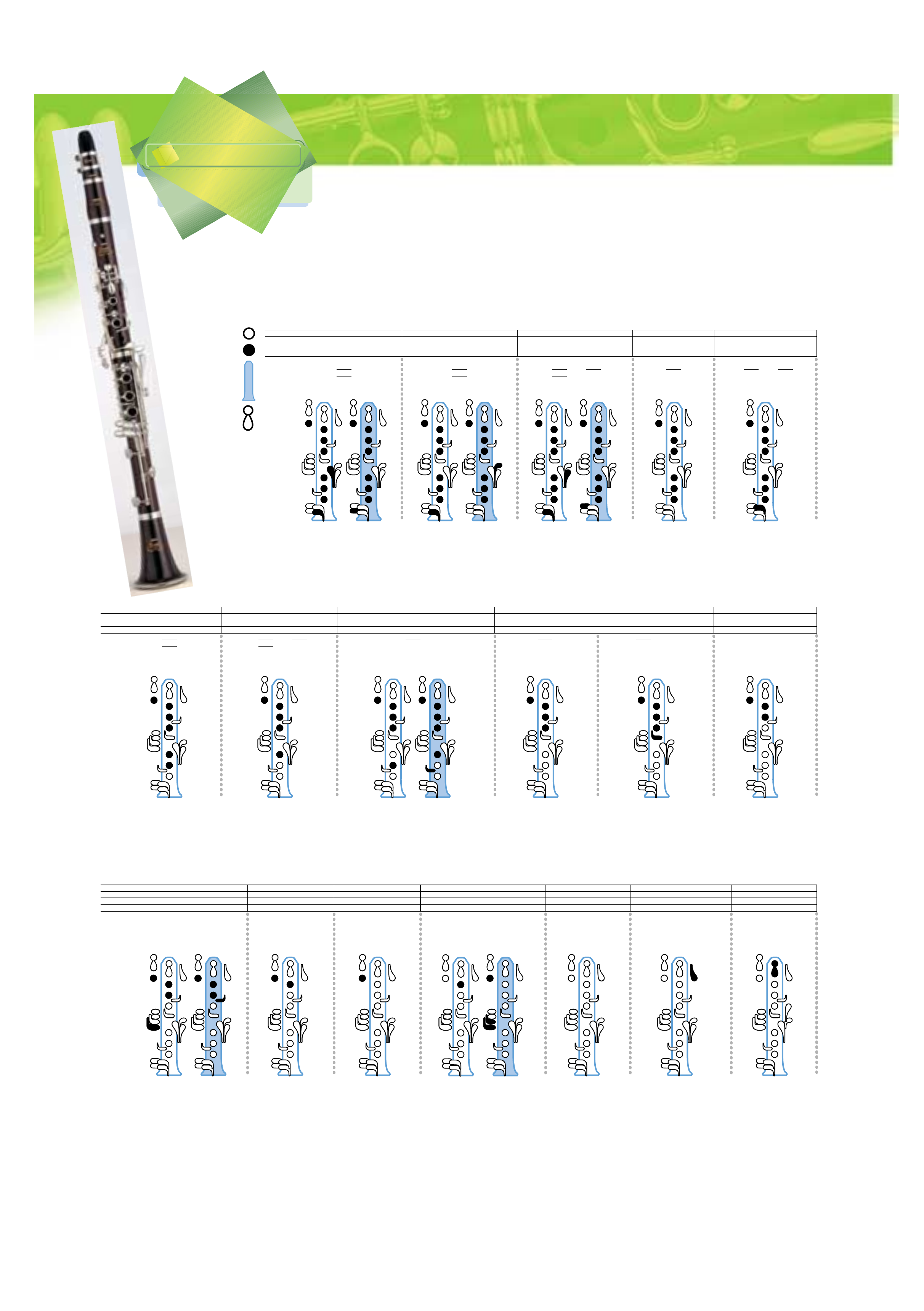 clarinet fingering chart sample free download