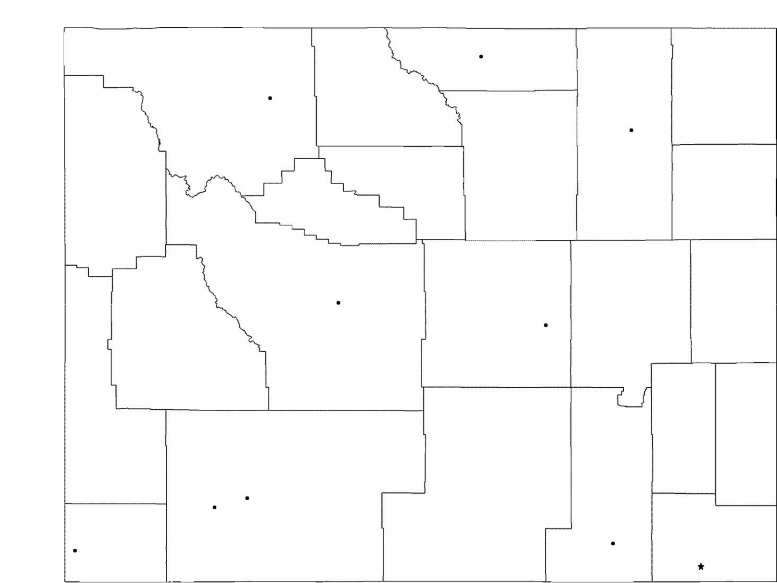 blank wyoming city map free download