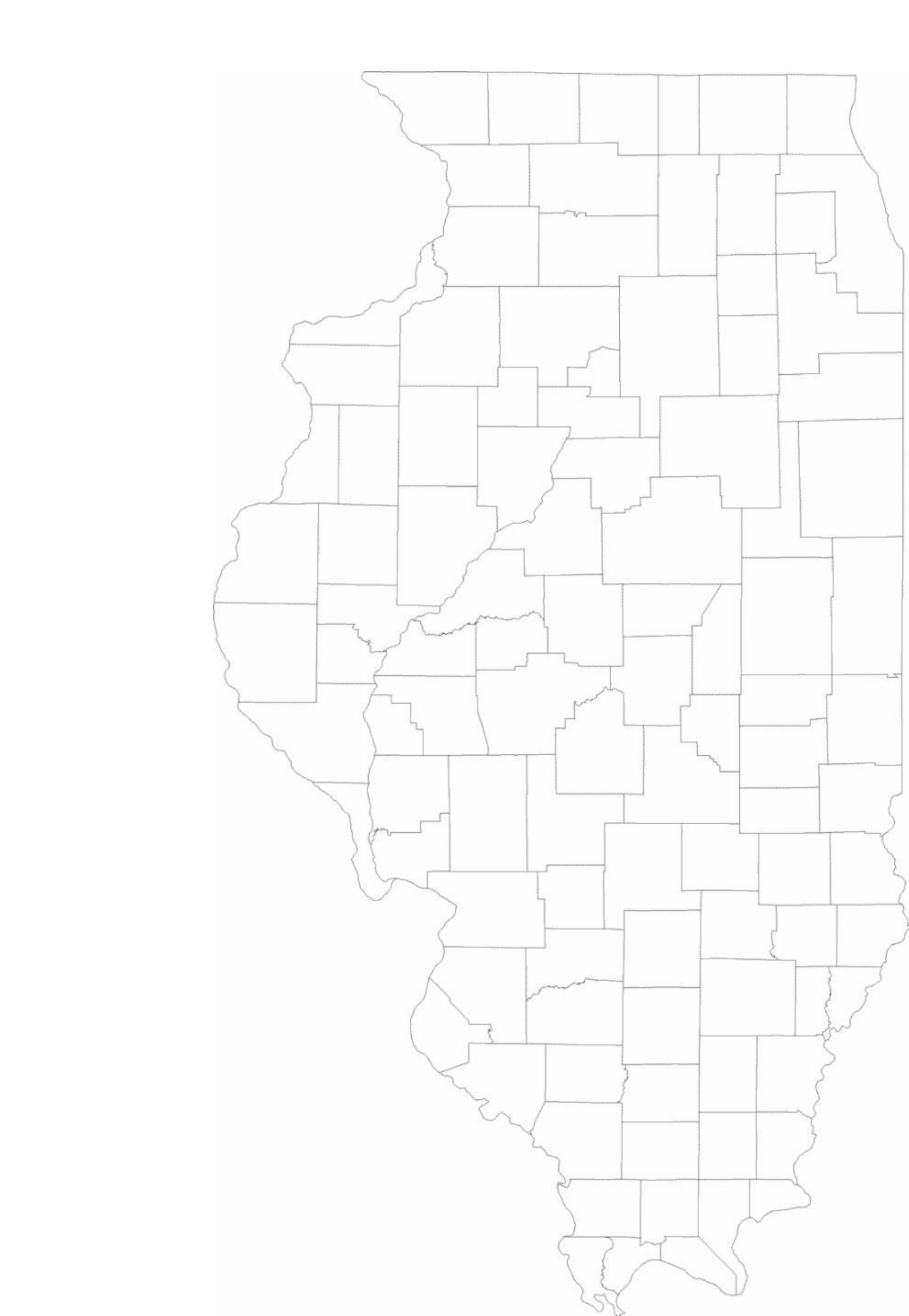 blank illinois county map free download