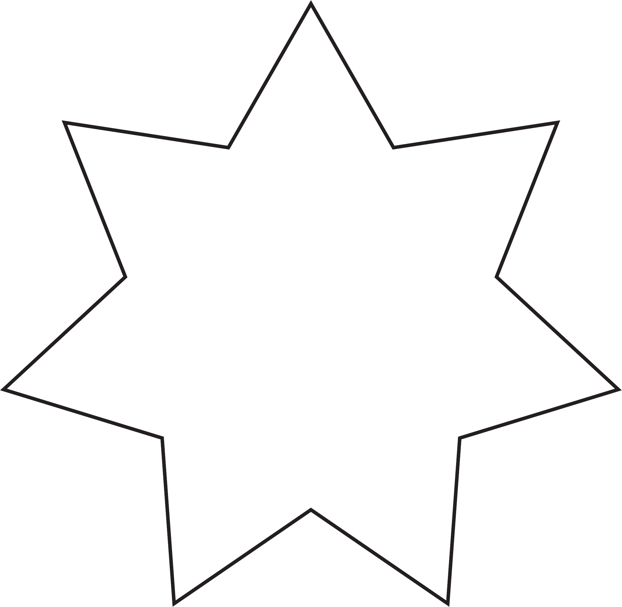 Seven-Pointed Star Template Free Download
