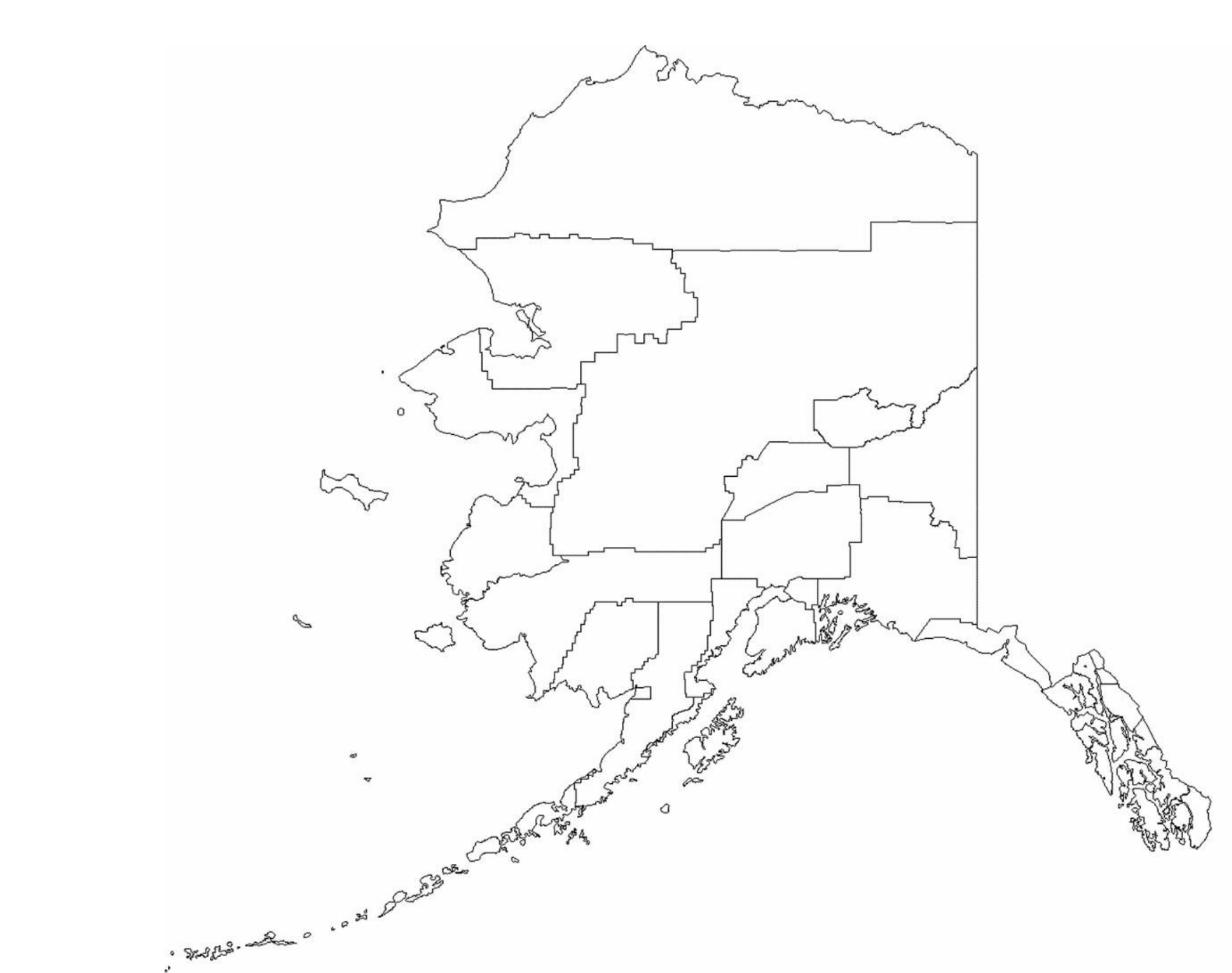 Model Alaska Borough Map Swimnovacom - Alaska county map