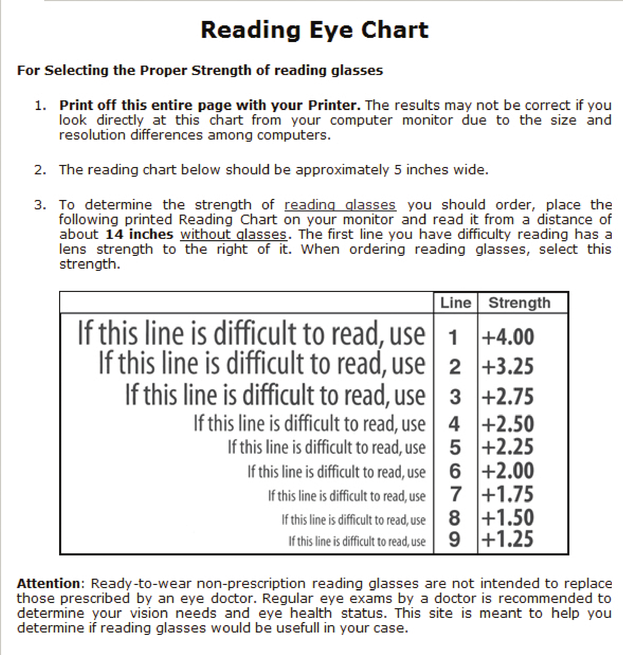 Reading eye chart free download 1 reading eye chart page 11 nvjuhfo Image collections