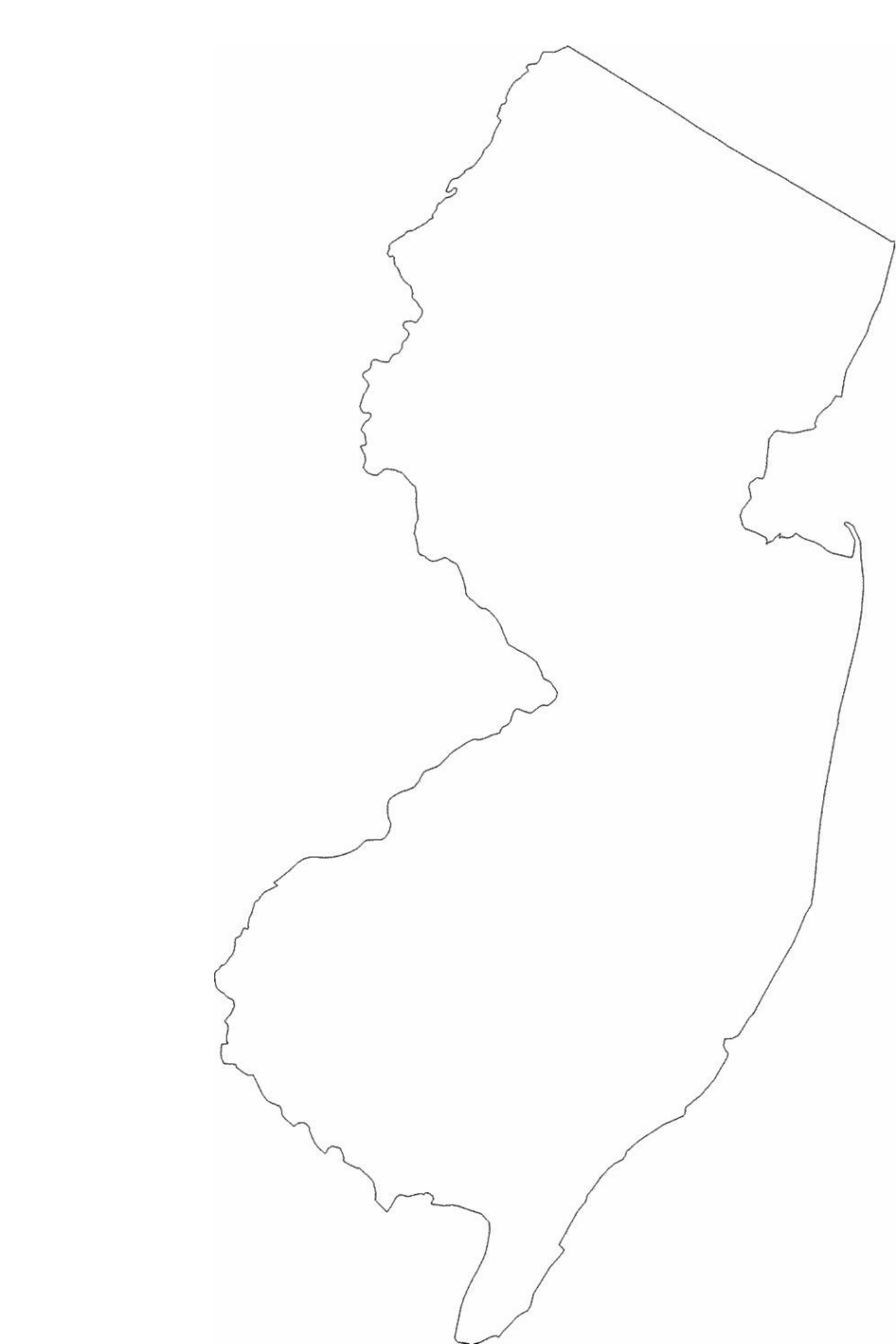New Jersey State Outline Map Free Download