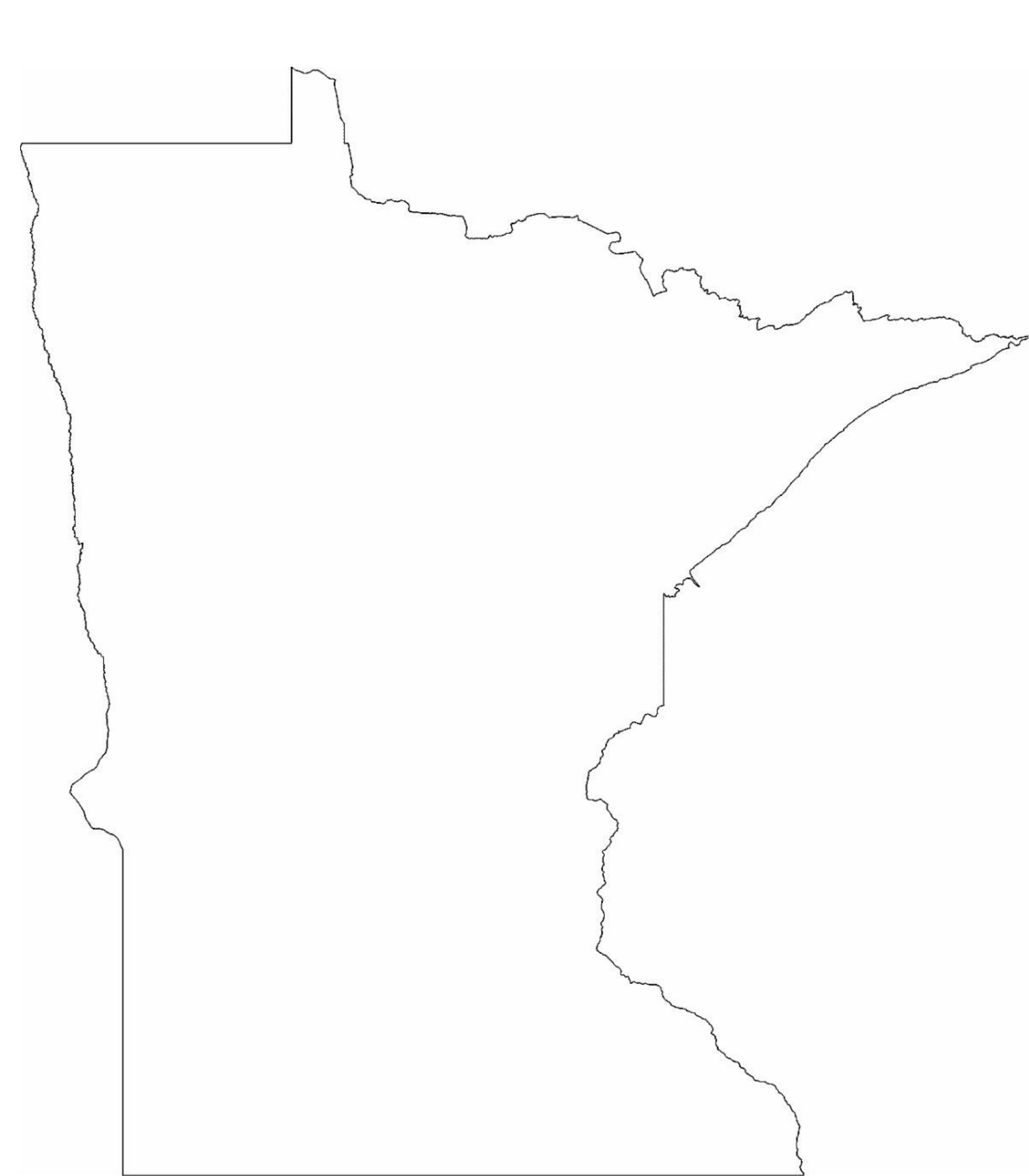 Minnesota State Outline Map Free Download