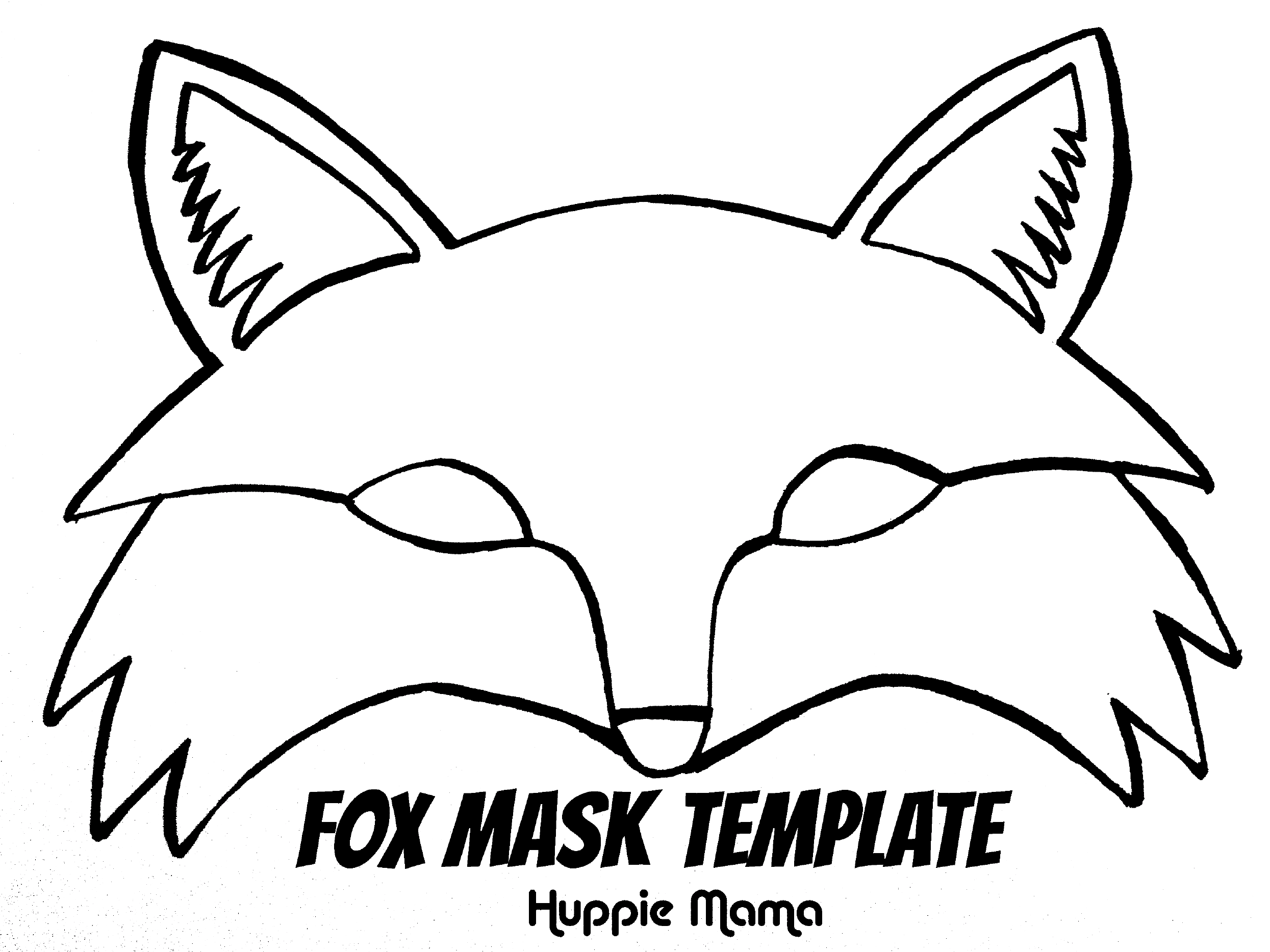 image about Fox Mask Printable titled Fox Mask Template Totally free Obtain