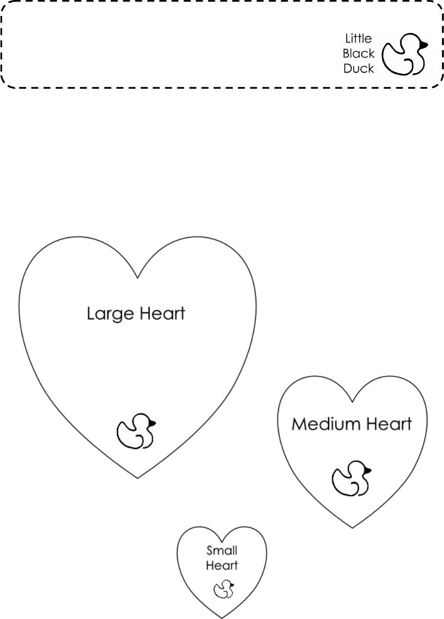 Heart template format free download for Hexahexaflexagon template