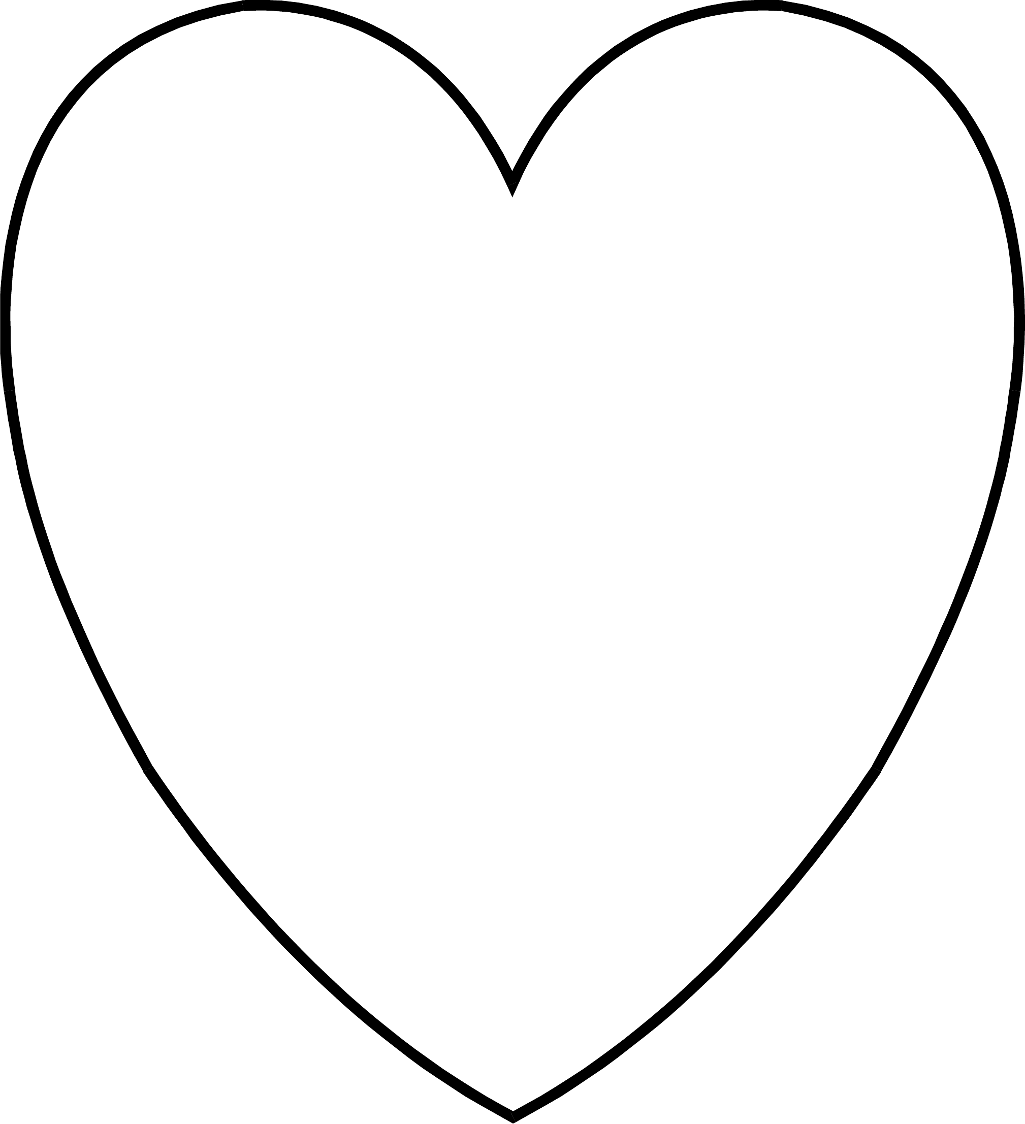 simple heart template free download