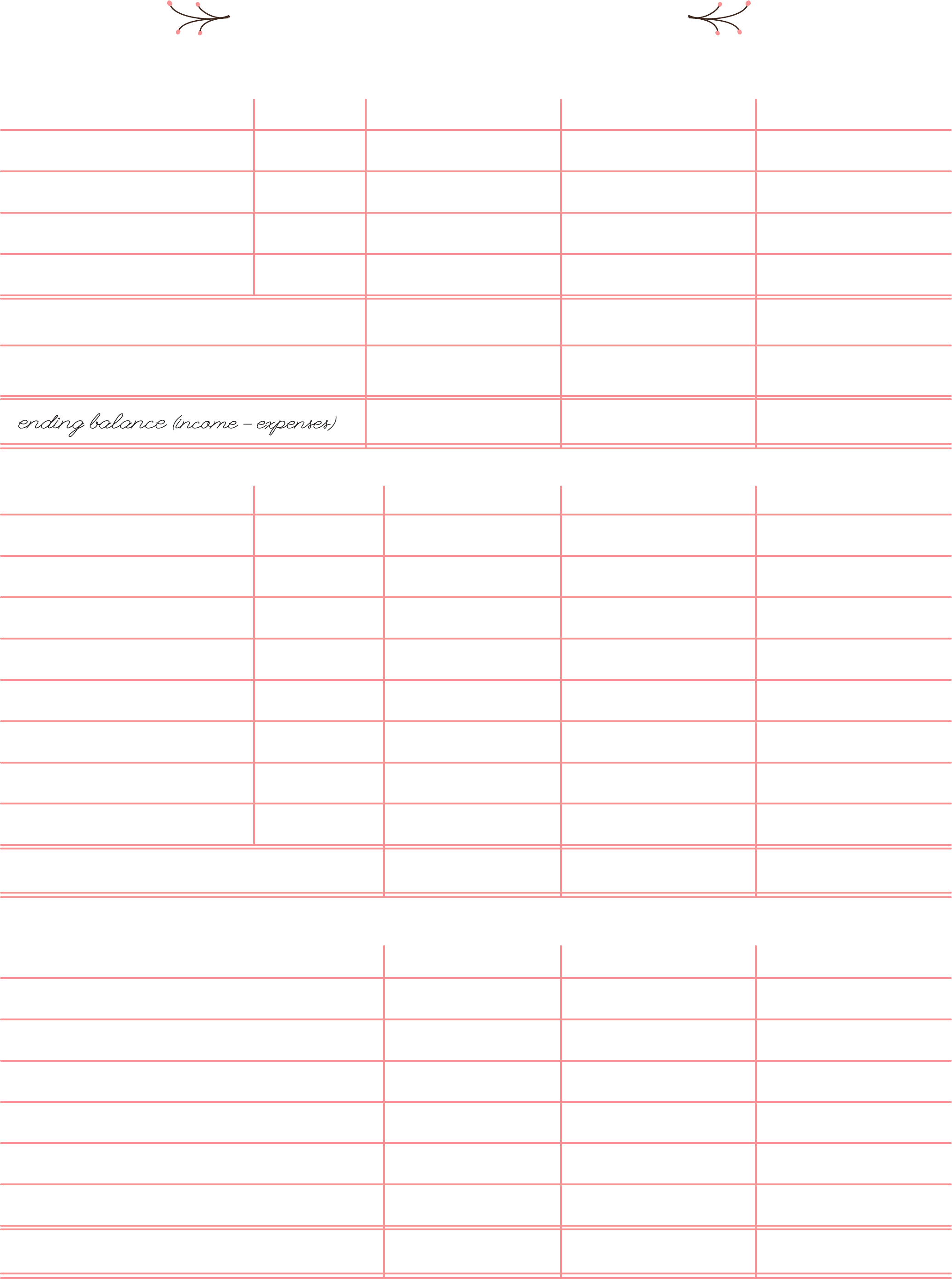 Blank Bi-Weekly Budget Worksheet Free Download
