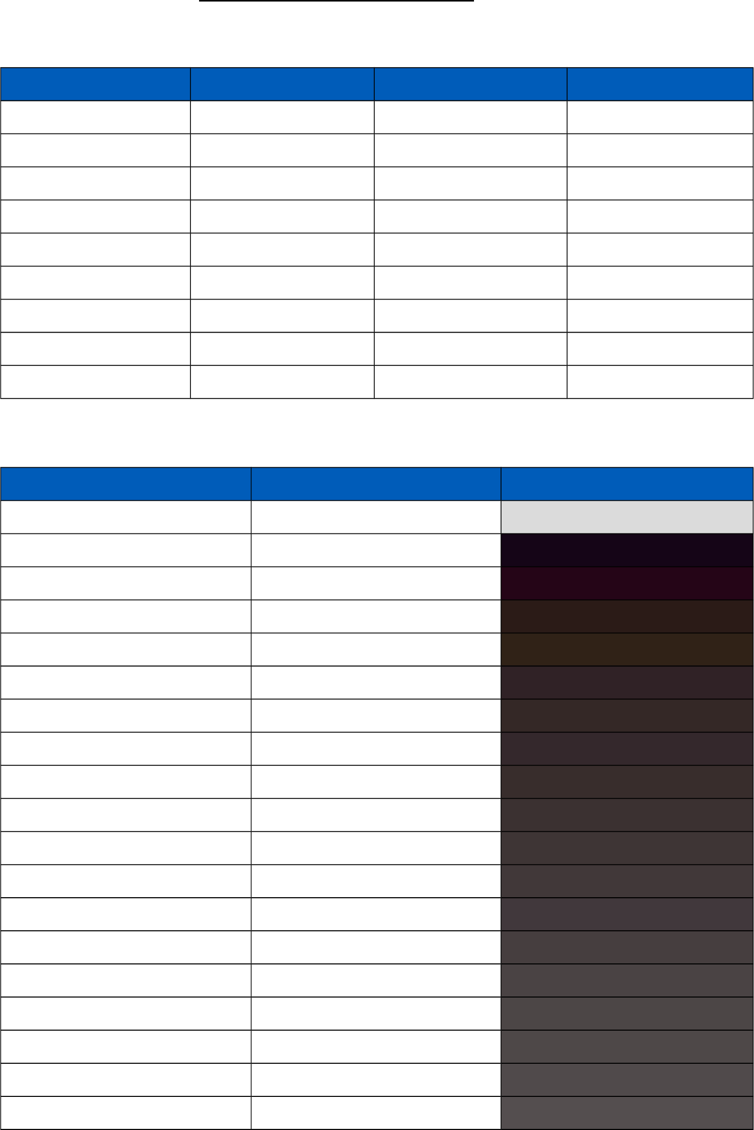 Standard Html Color Code Chart Free Download