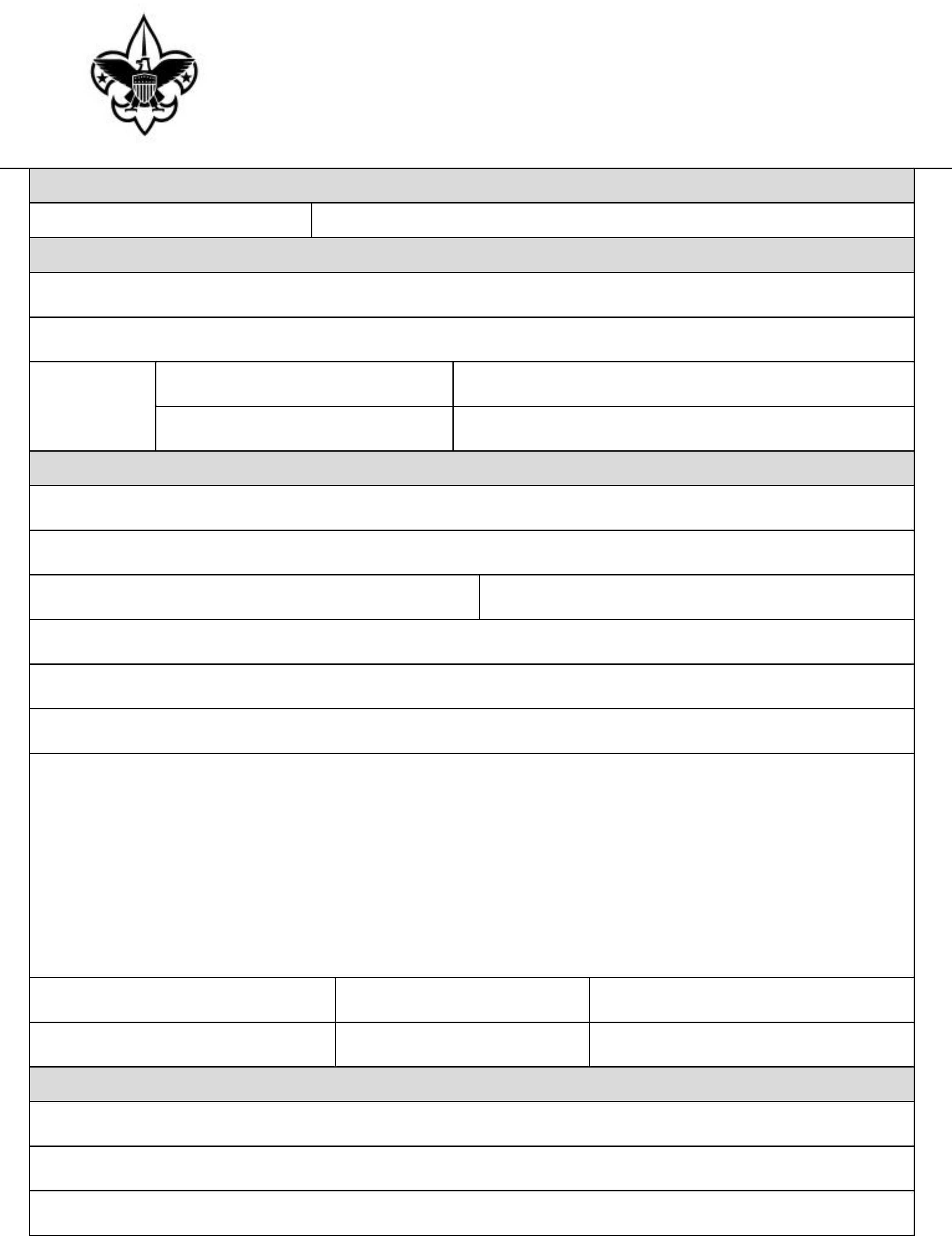 standard incident report form free download