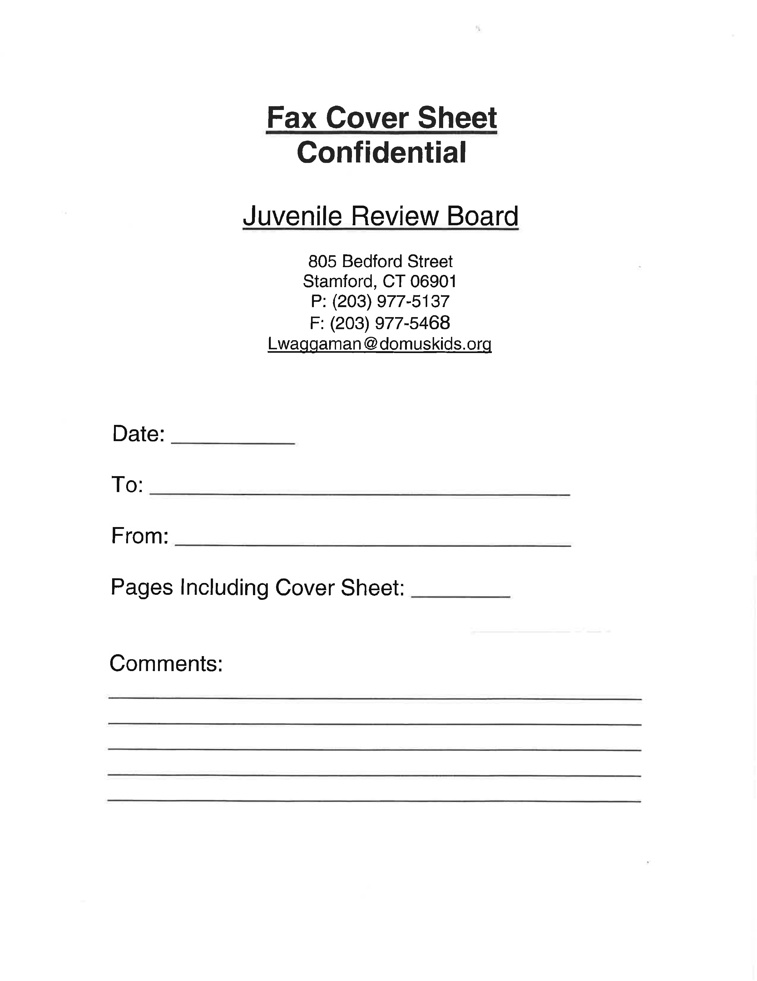 confidential cover page