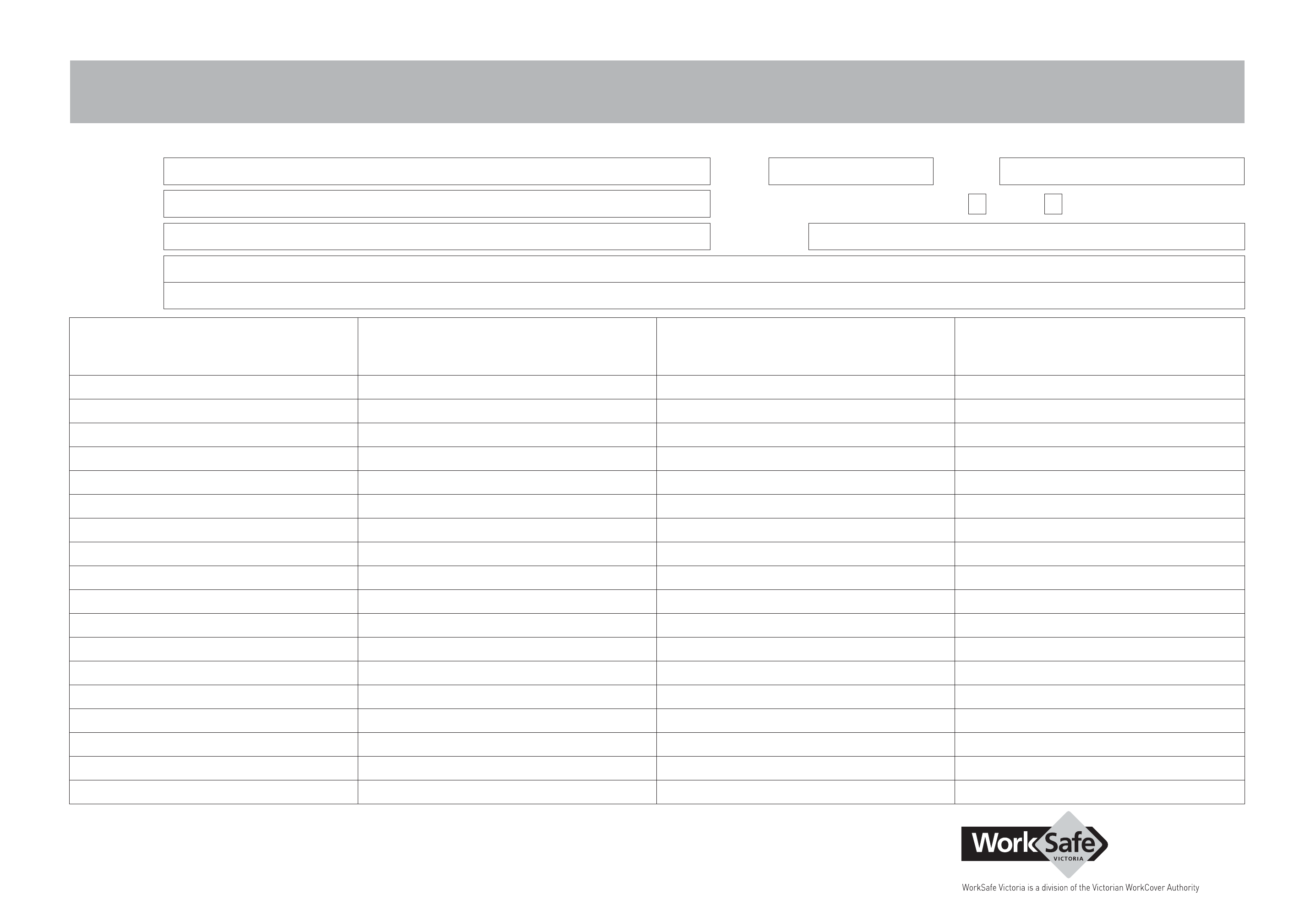 job safety analysis worksheet
