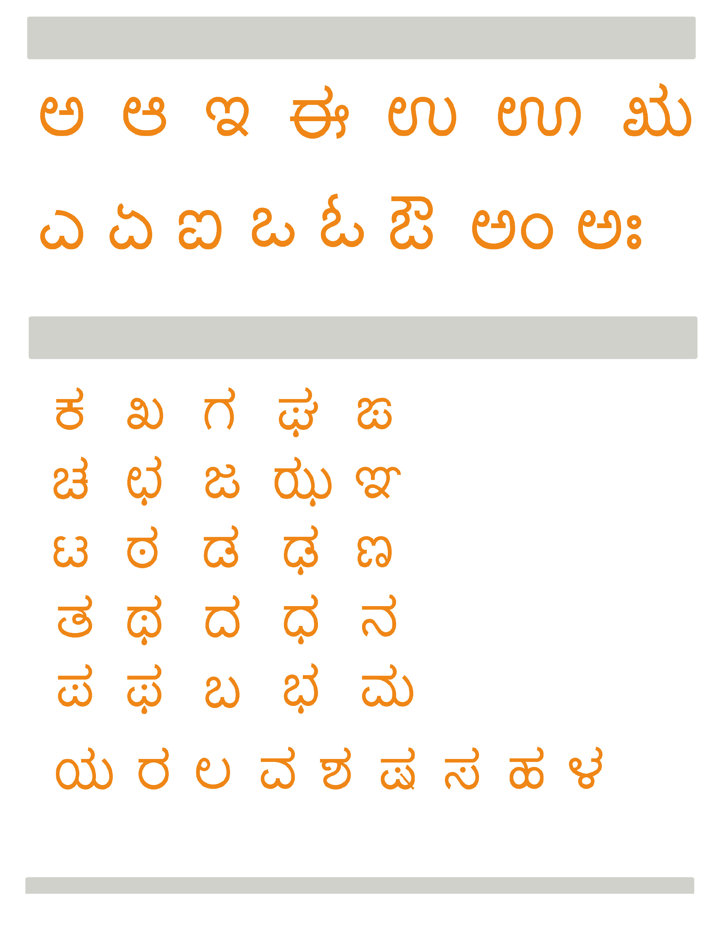 Kannada Letters Free Download