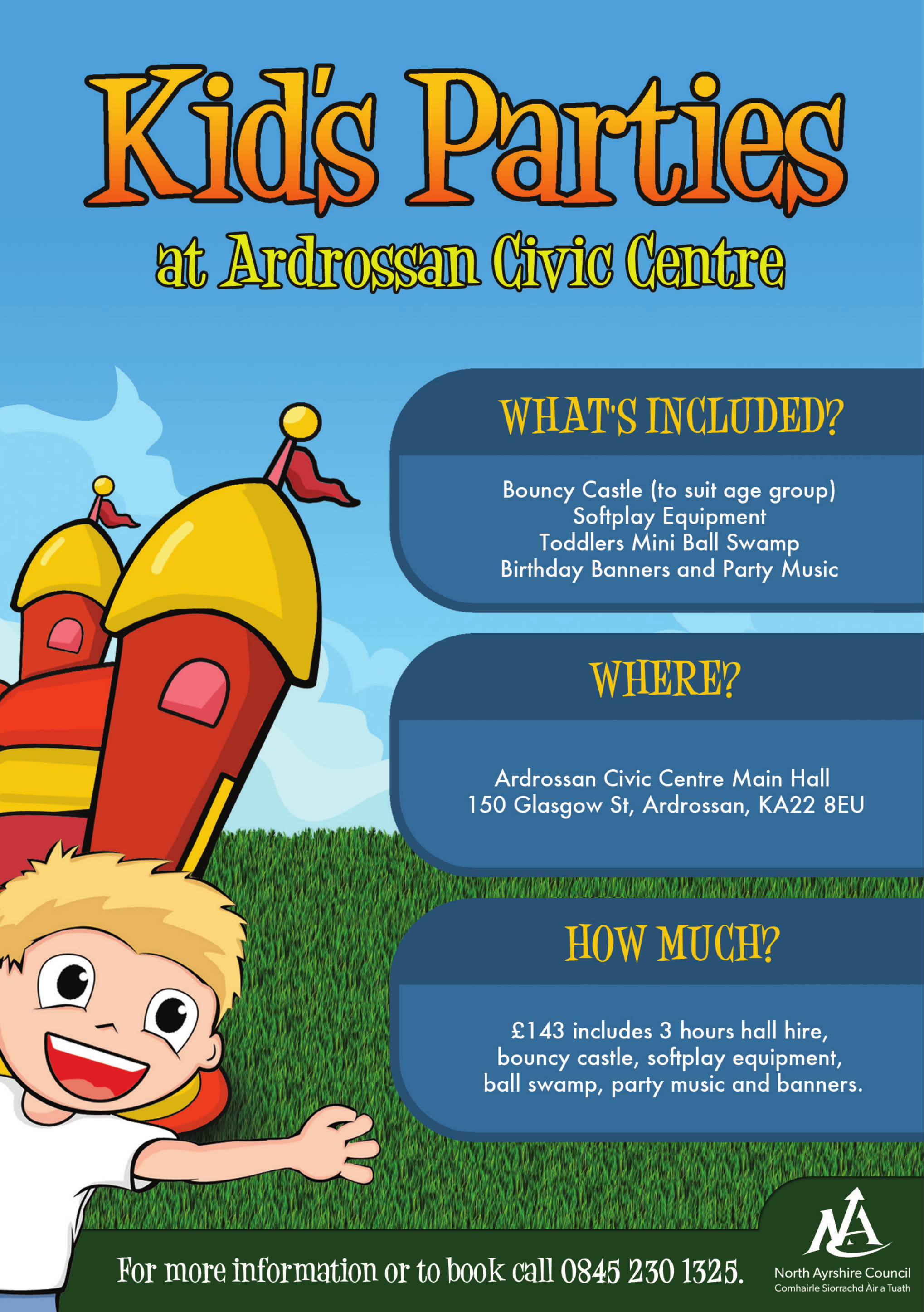 kids party flyer free download