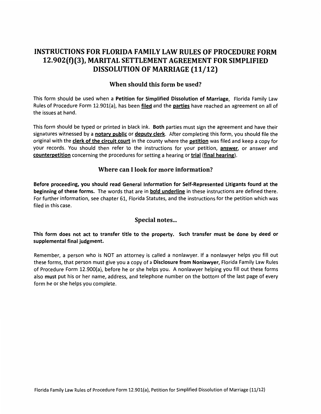 Marital Settlement Agreement For Simplified Dissolution Of Marriage