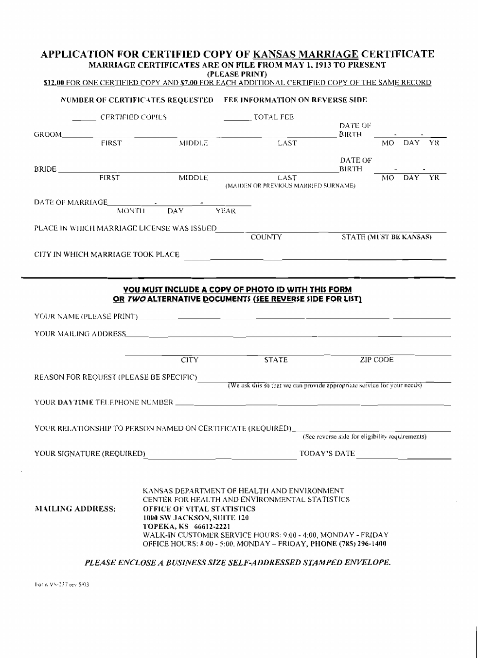 Application for certified copy of marriage certificate kansas application for certified copy of marriage certificate kansas free download xflitez Image collections