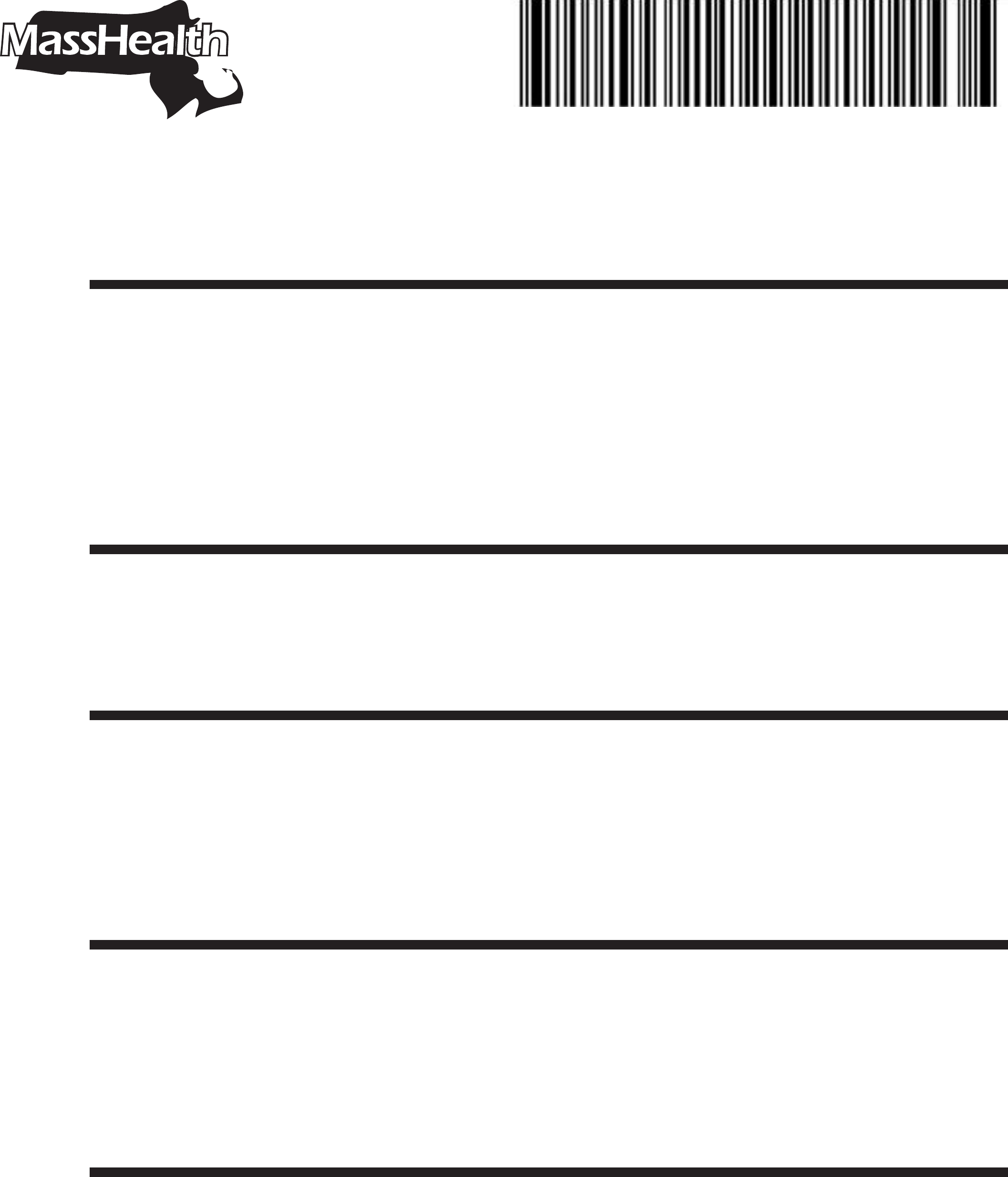 MassHealth Mail and Fax Cover Sheet Free Download – Sample Masshealth Fax Cover Sheet