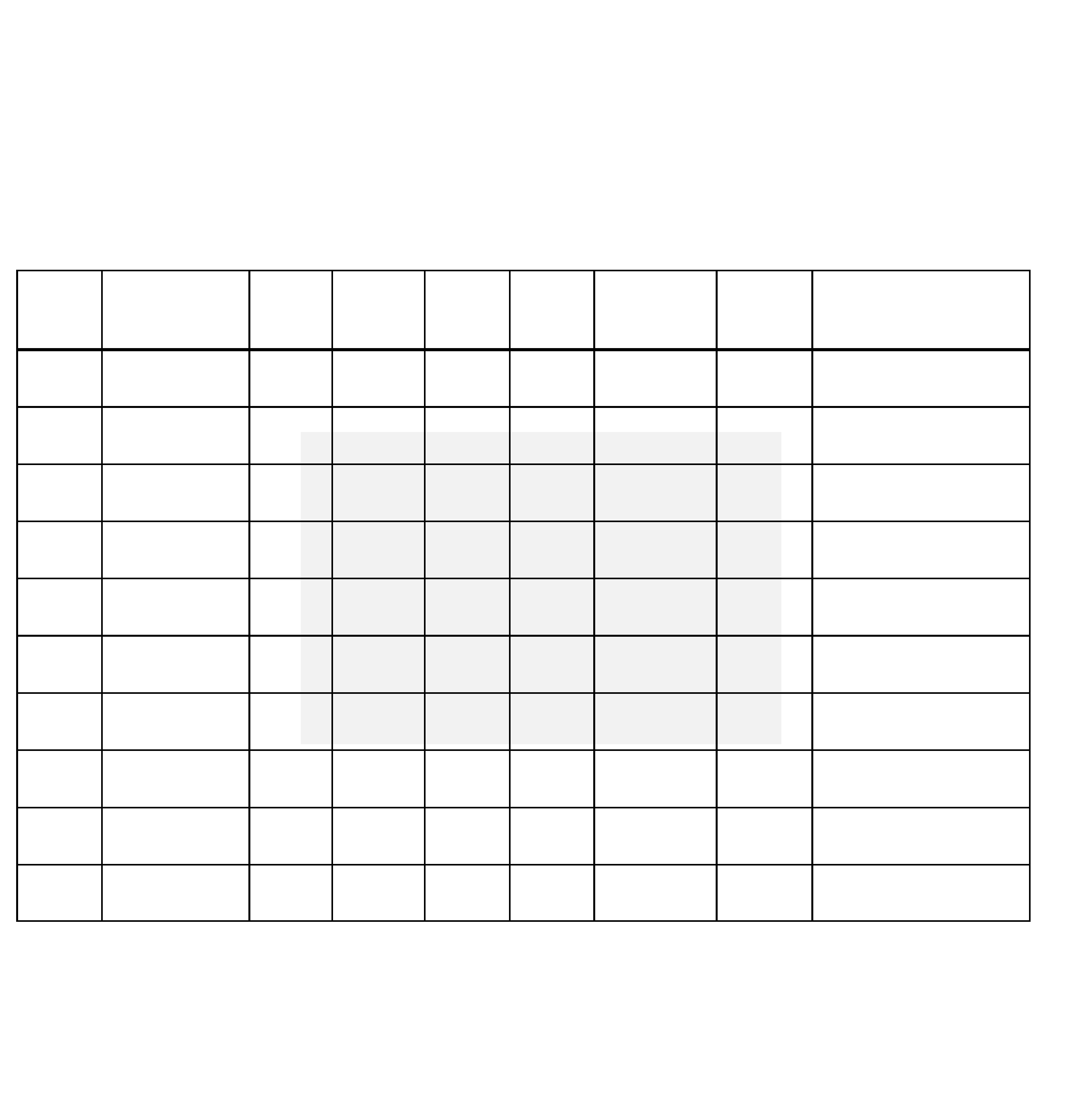 monthly bill organizer chart free download