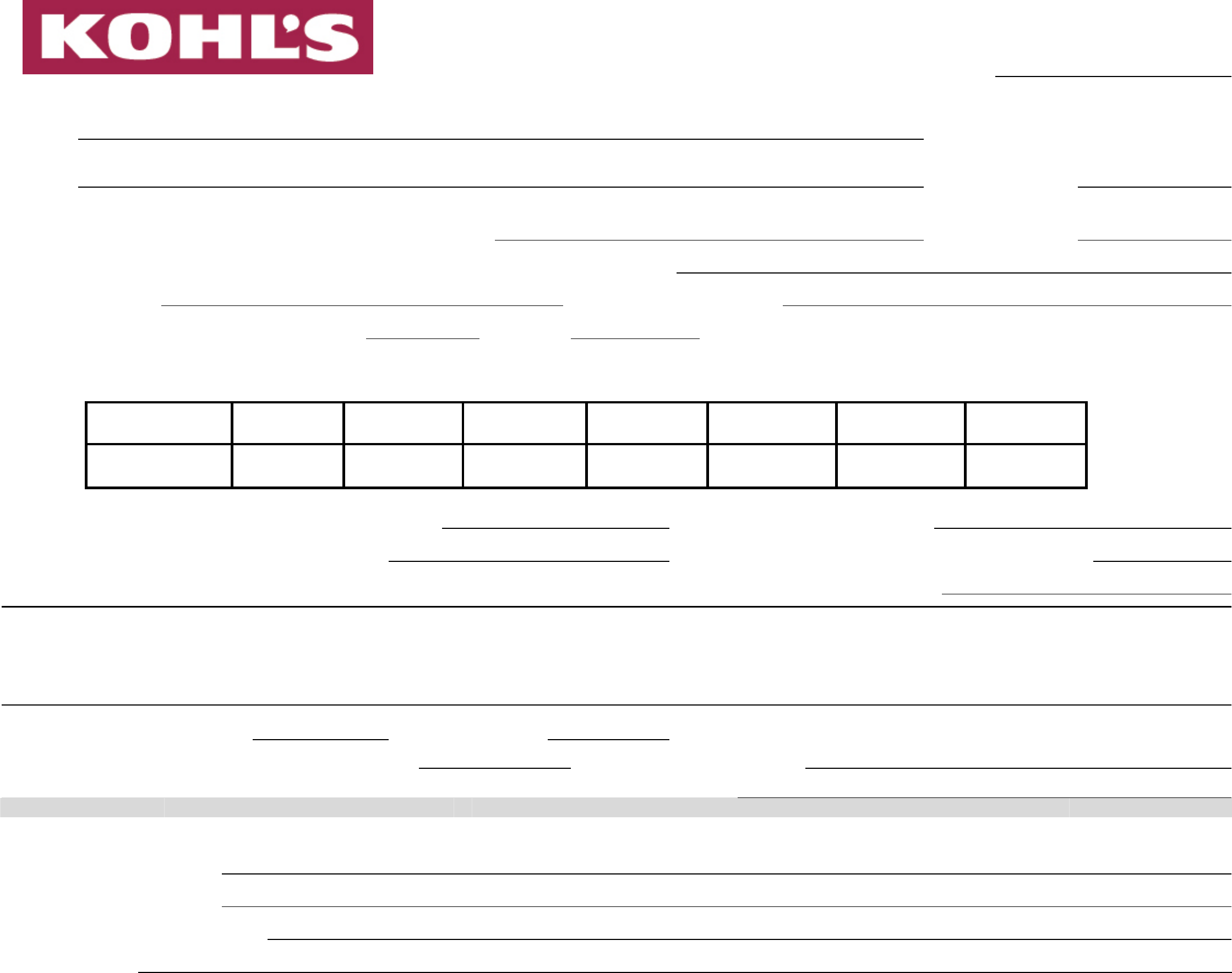 kohl 39 s employment application form free download