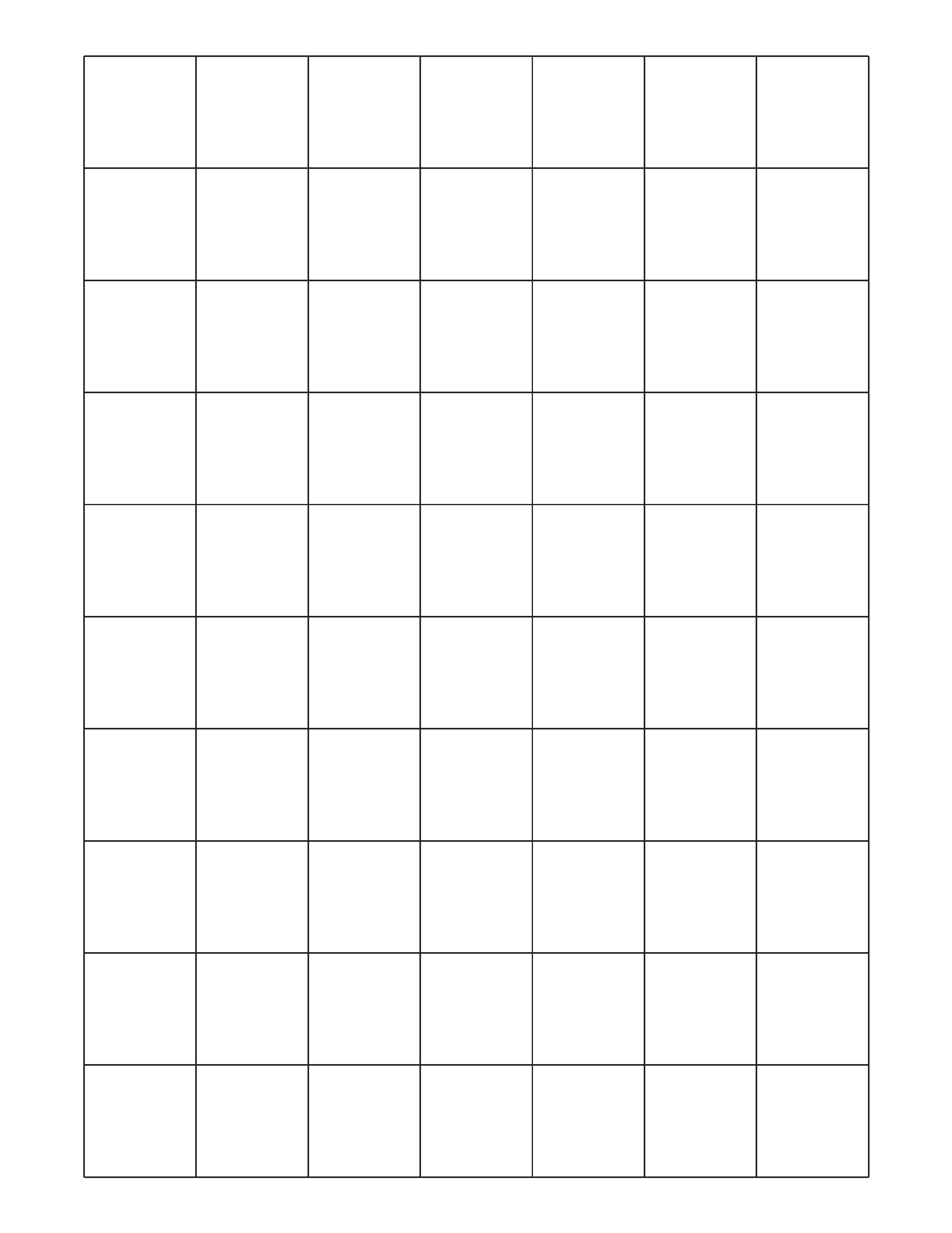 Two Pages 1 Inch Graph Paper Form Free Download – 1 Inch Graph Paper