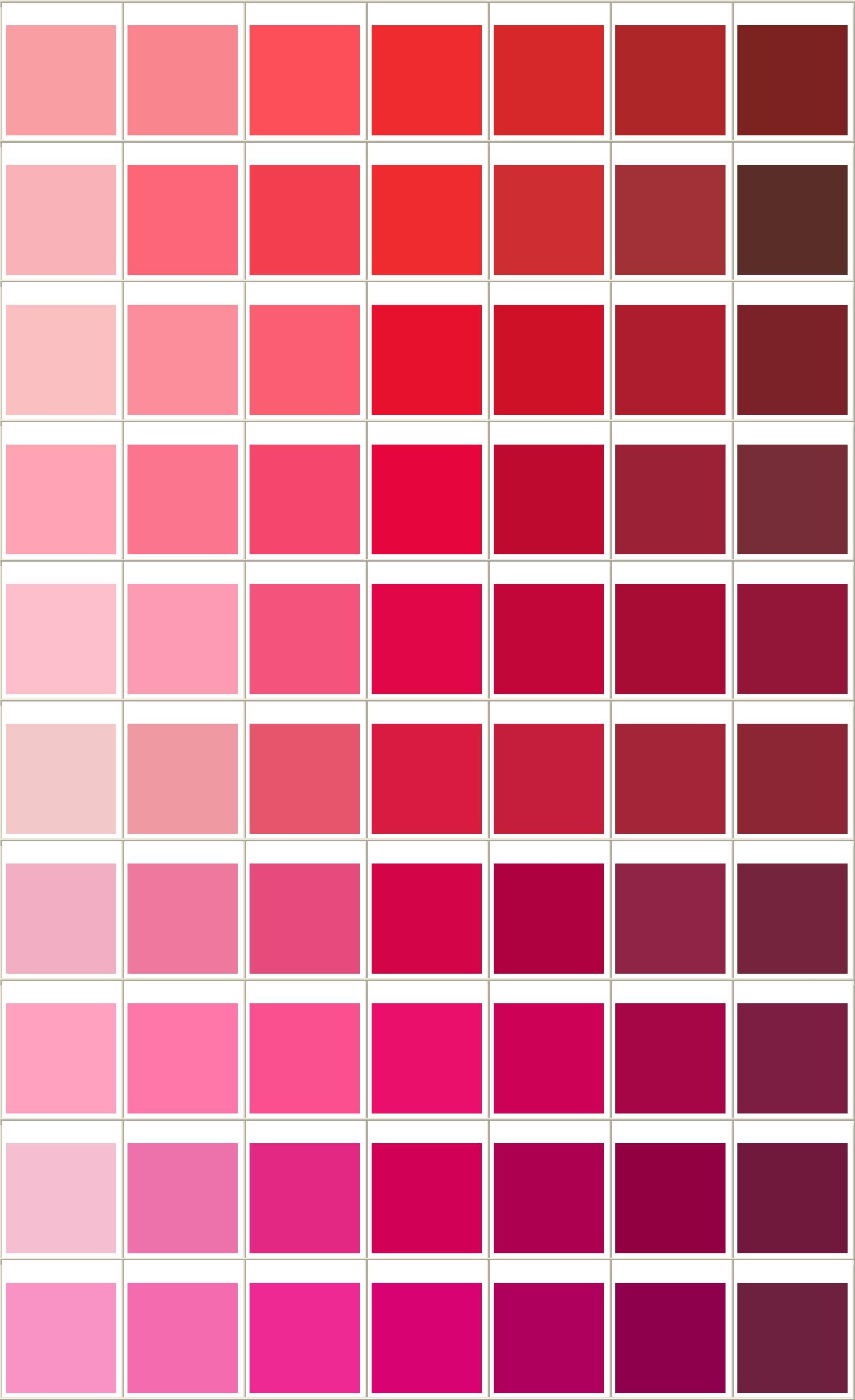 general printing color chart free download