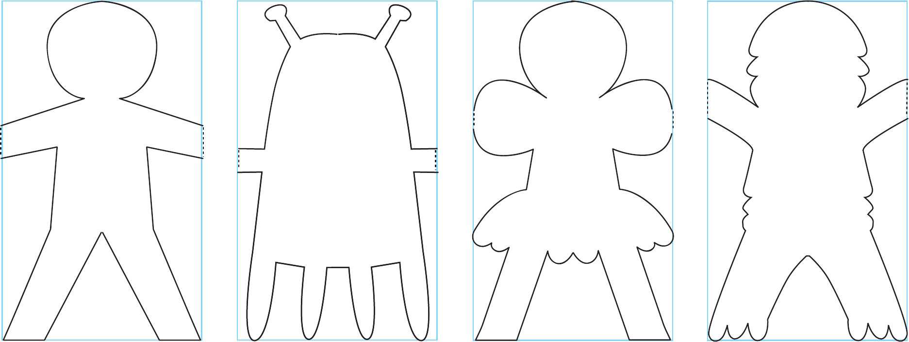 Good Sample Of Paper Doll Template