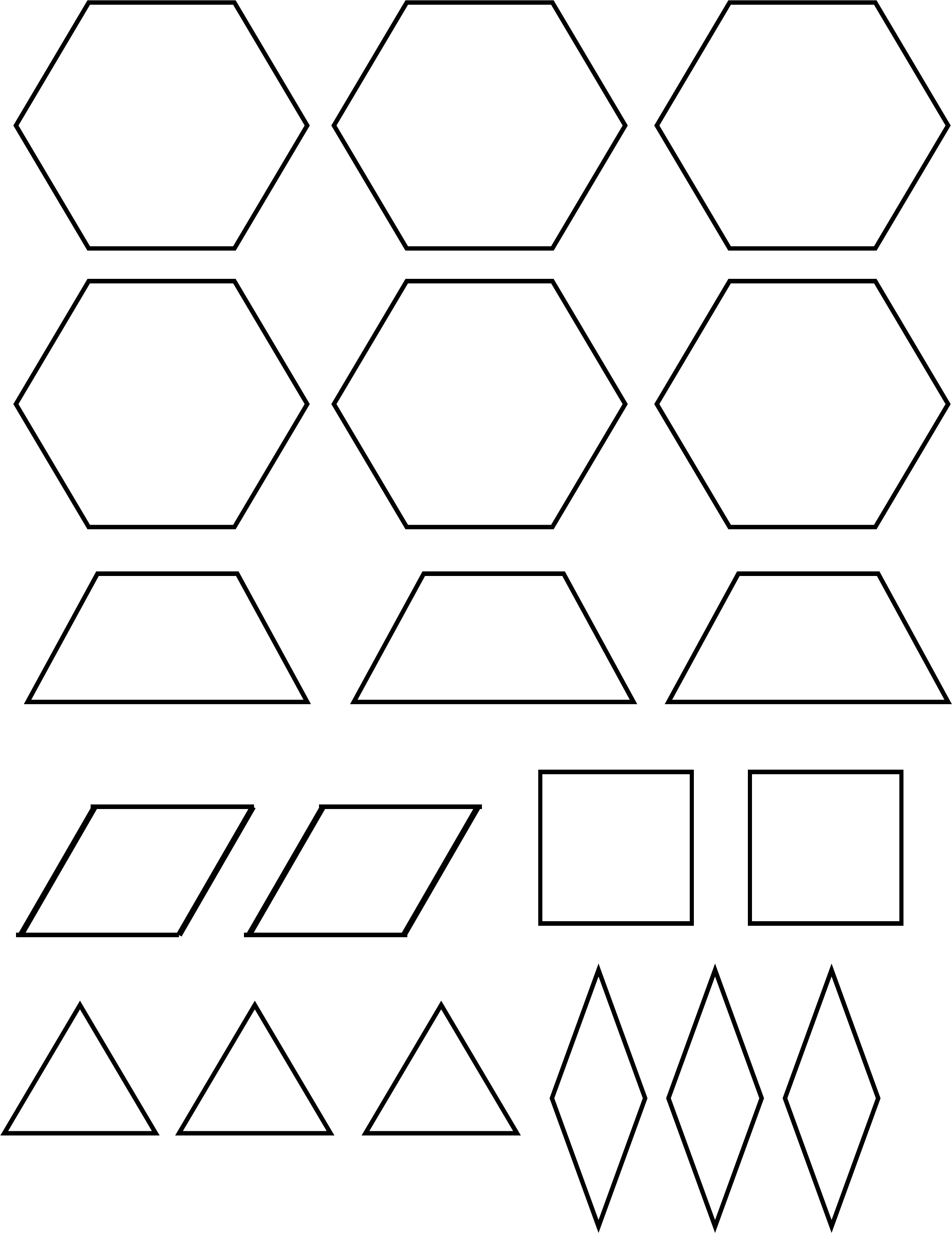 picture relating to Printable Pattern Block Templates titled Behavior Block Template Pattern Totally free Down load