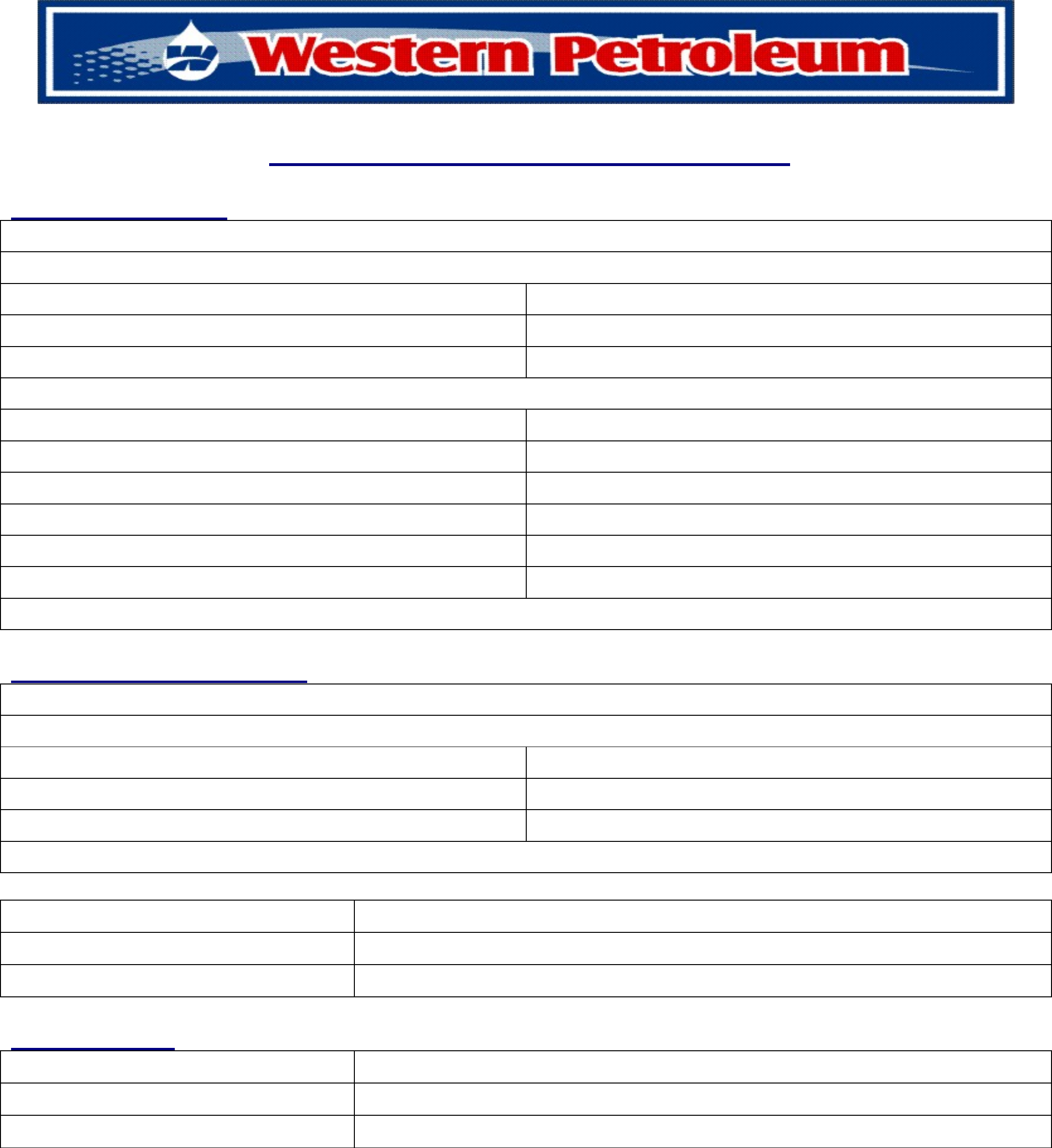 personal credit application form western petroleum free download