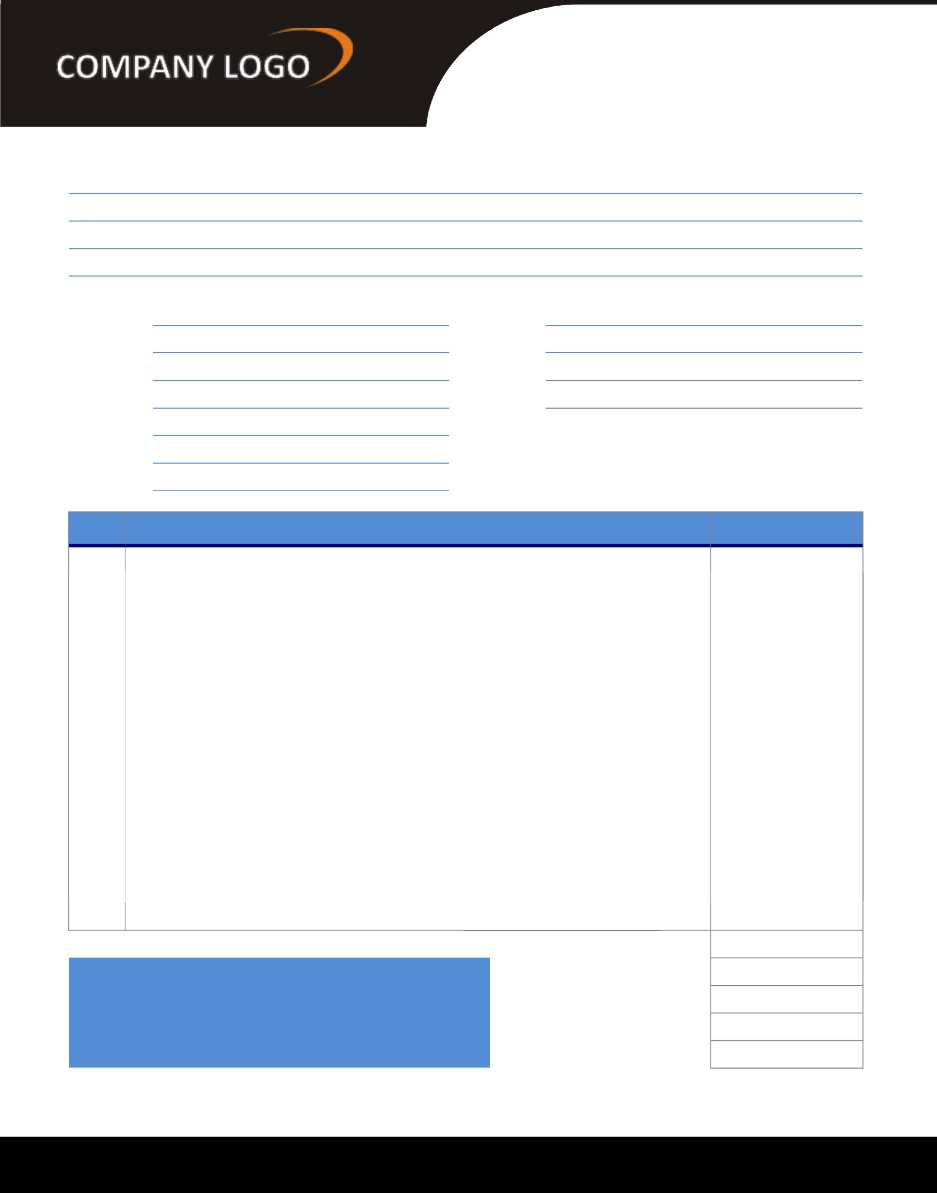modern general invoice template free download