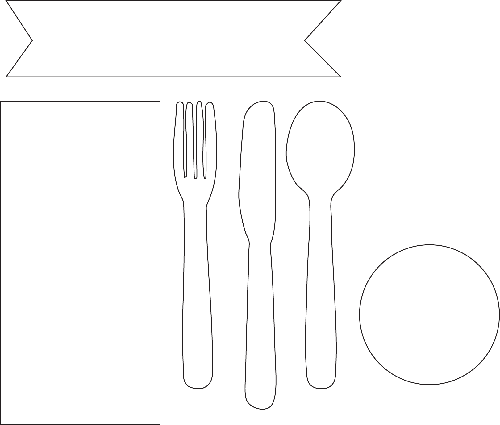 Place Setting Template Sample Free Download