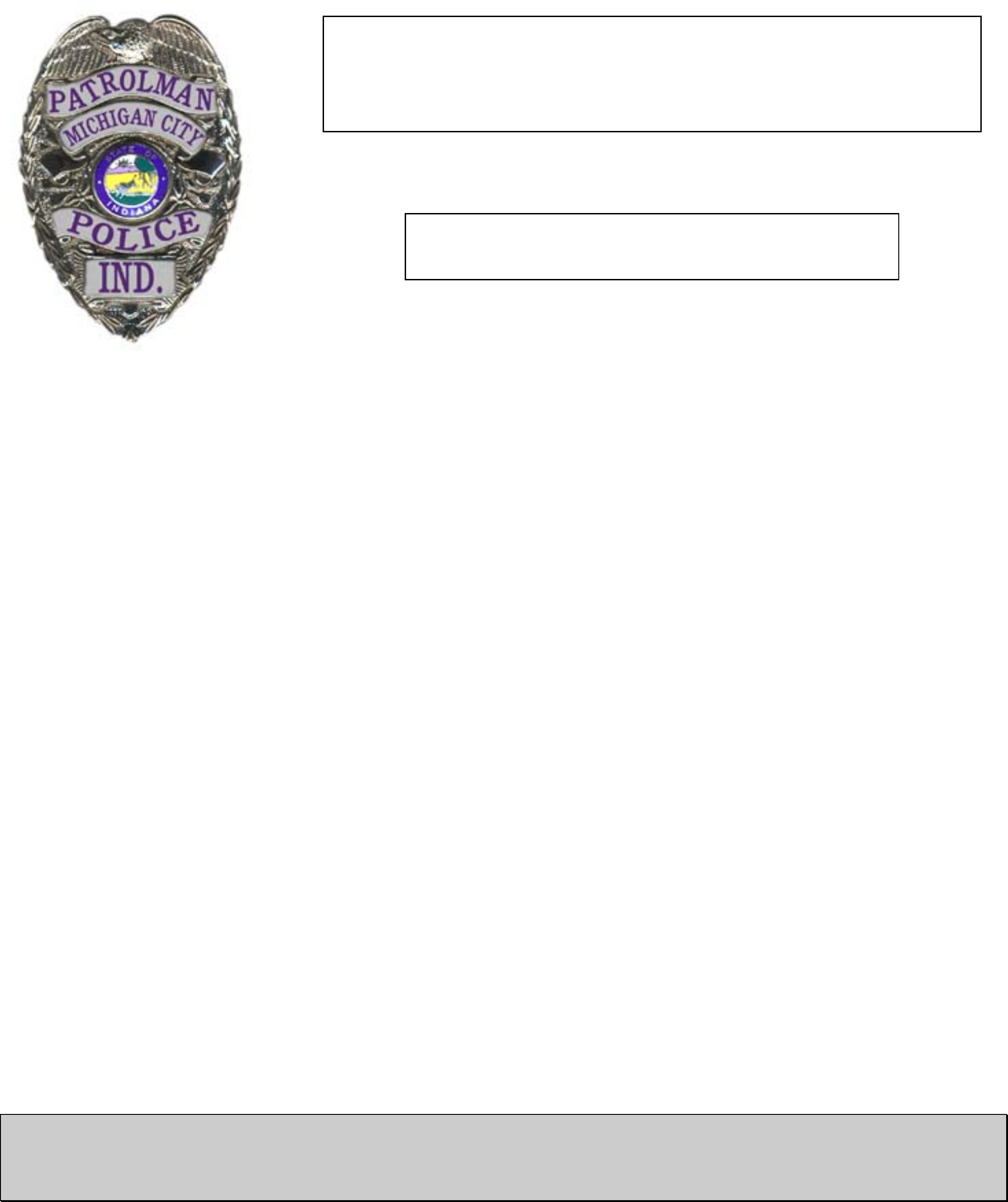 Police Service Commission Form - Michigan Free Download