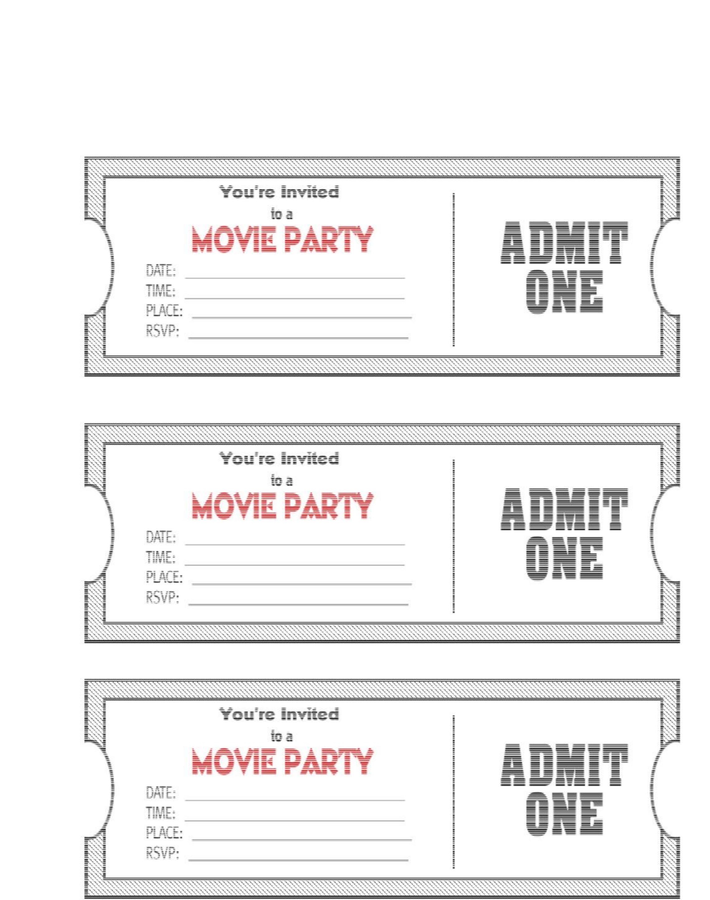 Tickets template etamemibawa movie ticket party invitation template free download stopboris Gallery