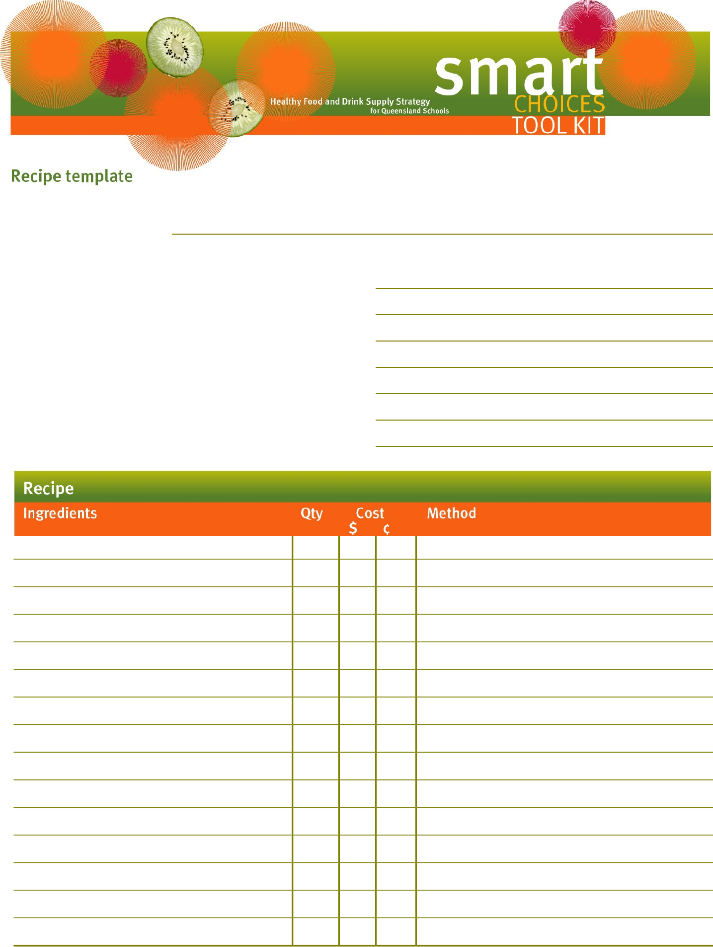 Standardized Recipe Cost Sheet Blank Template Free Download Png 1435x1905 Form