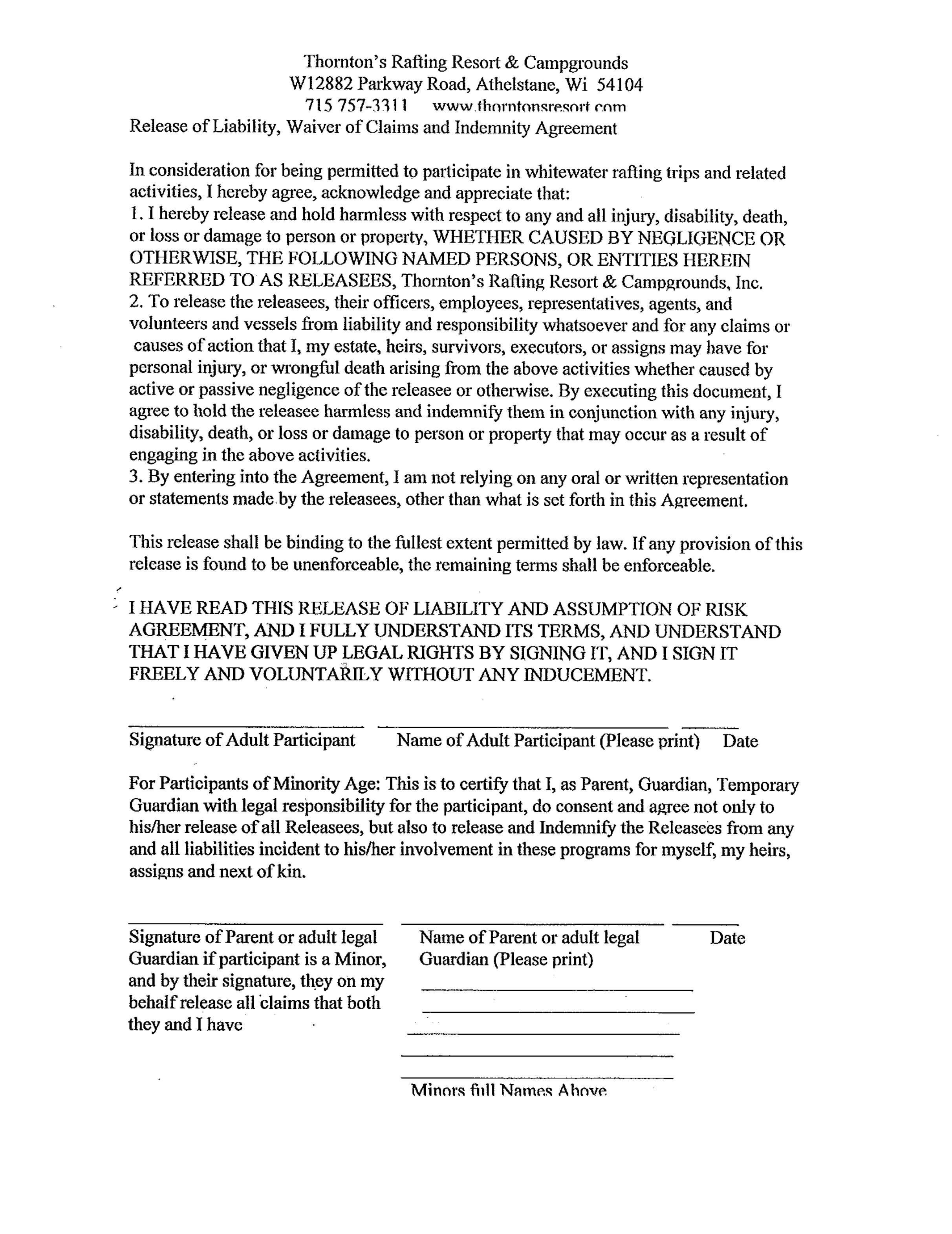 General Liability Waiver Form - Unitedijawstates.com