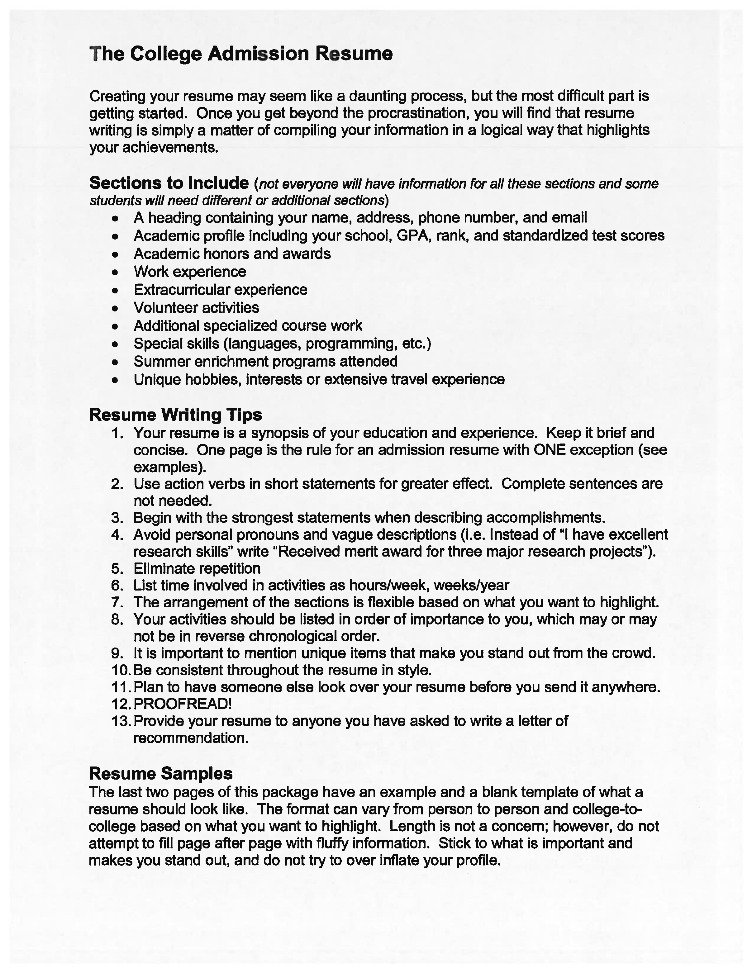 28 college entrance resume college application resume