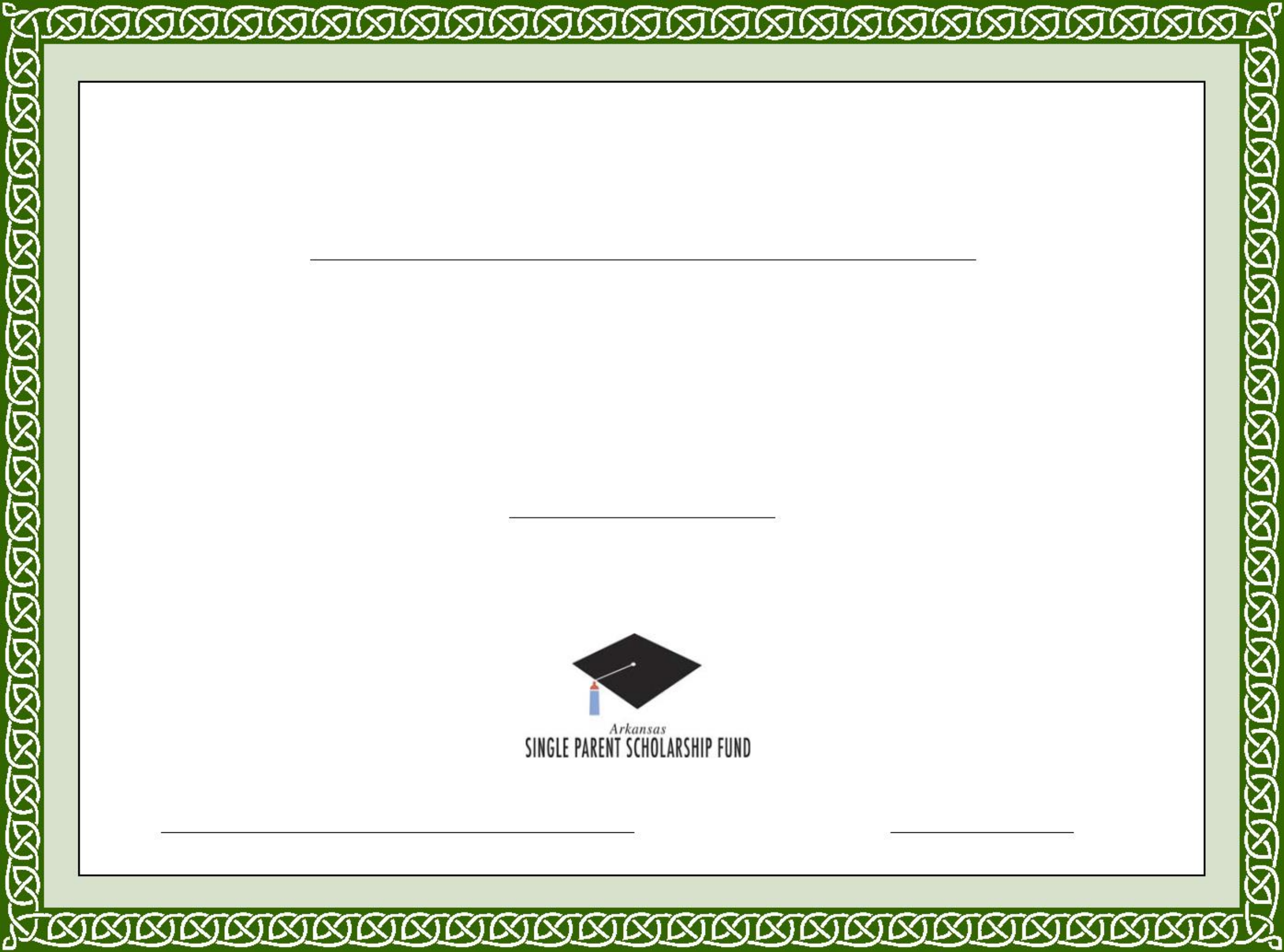 generic scholarship certificate template free download