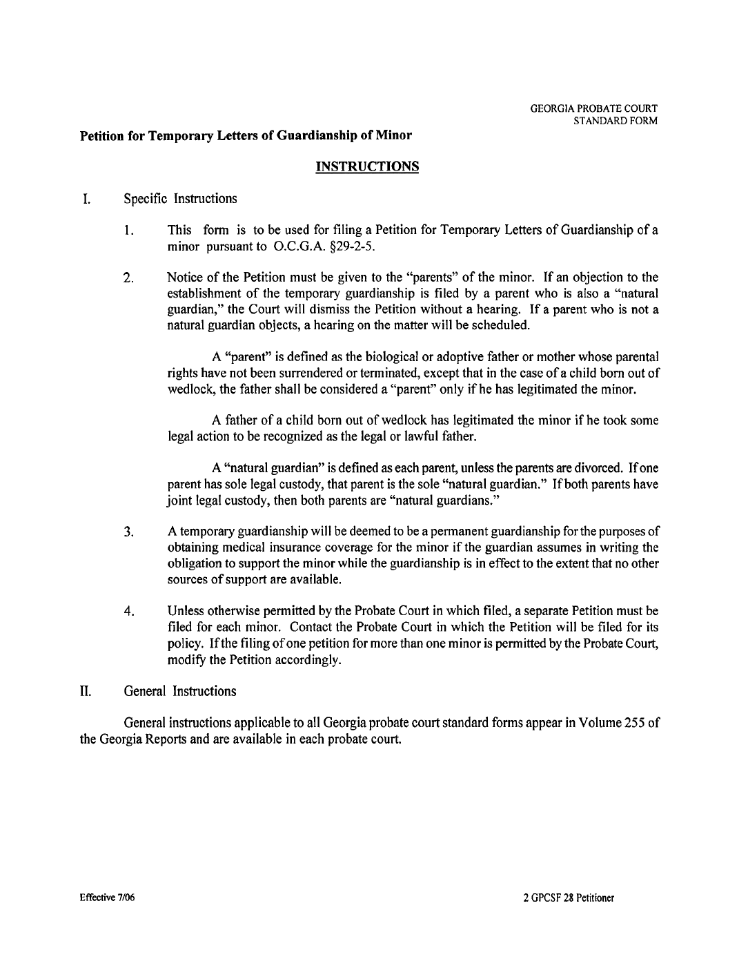 temporary guardianship letter informatin for letter temporary legal guardianship form