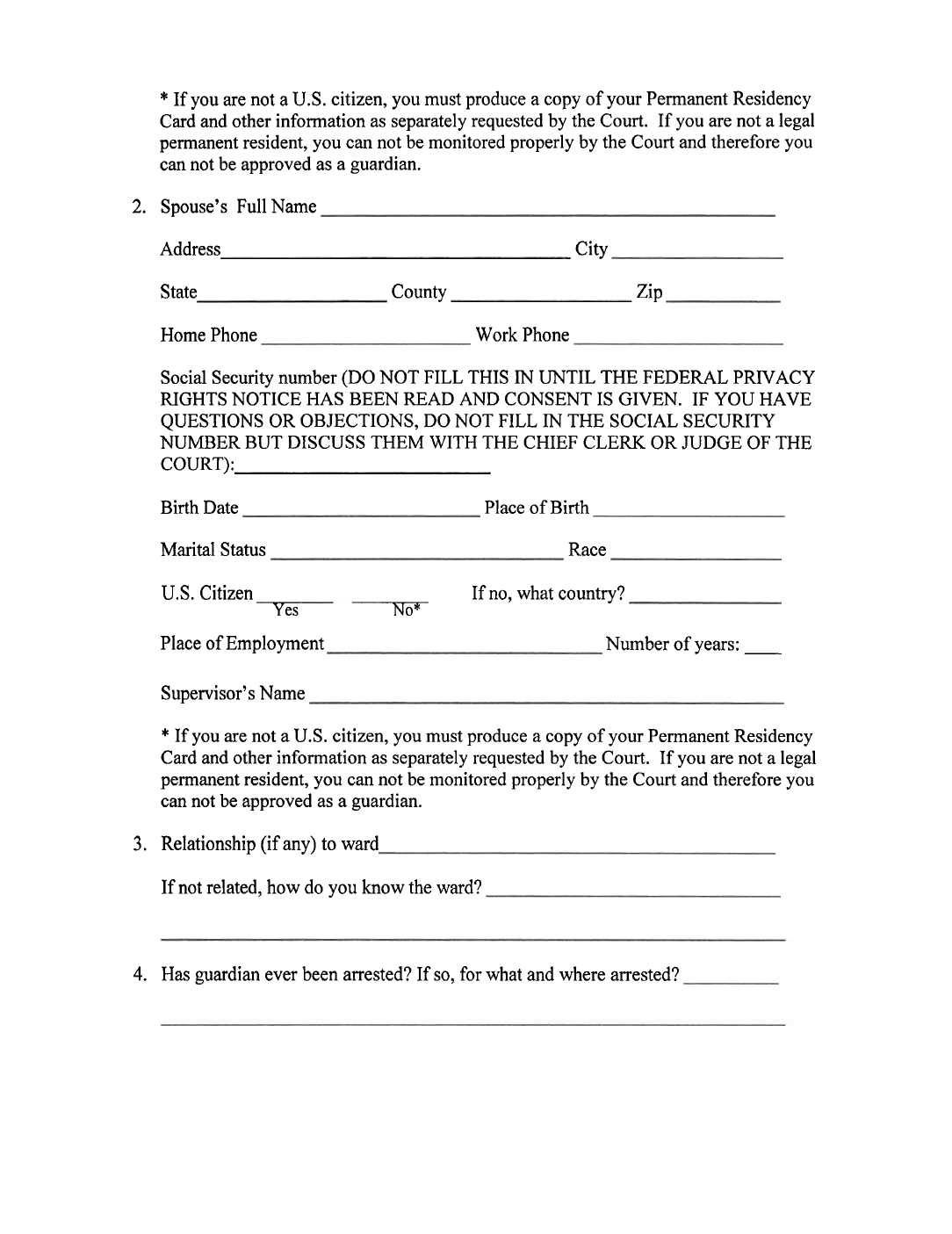 Free Guardianship Template Illinois Form Guardian Fill Online