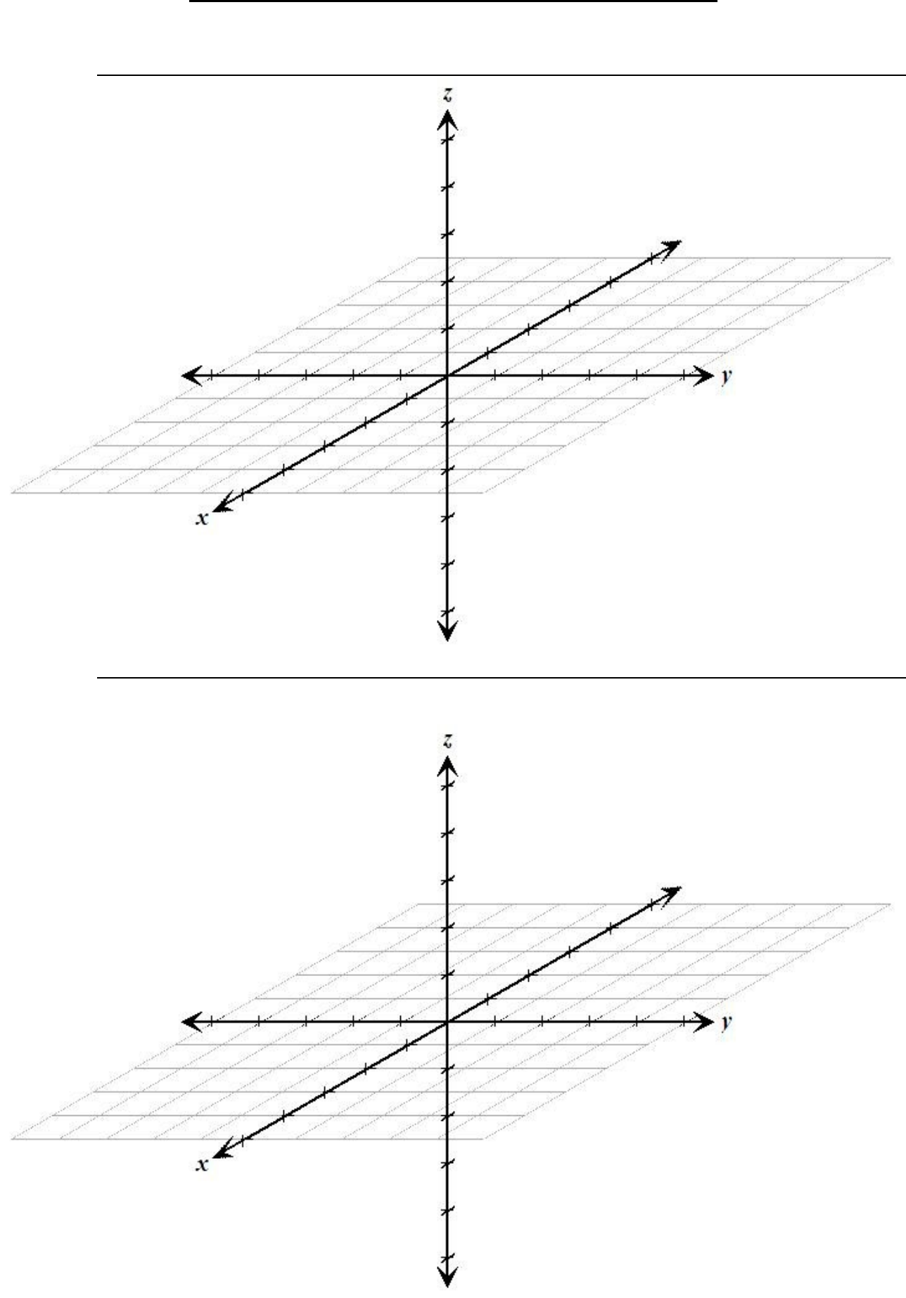 Free Simple 3d Graph Paper on Graphing Page